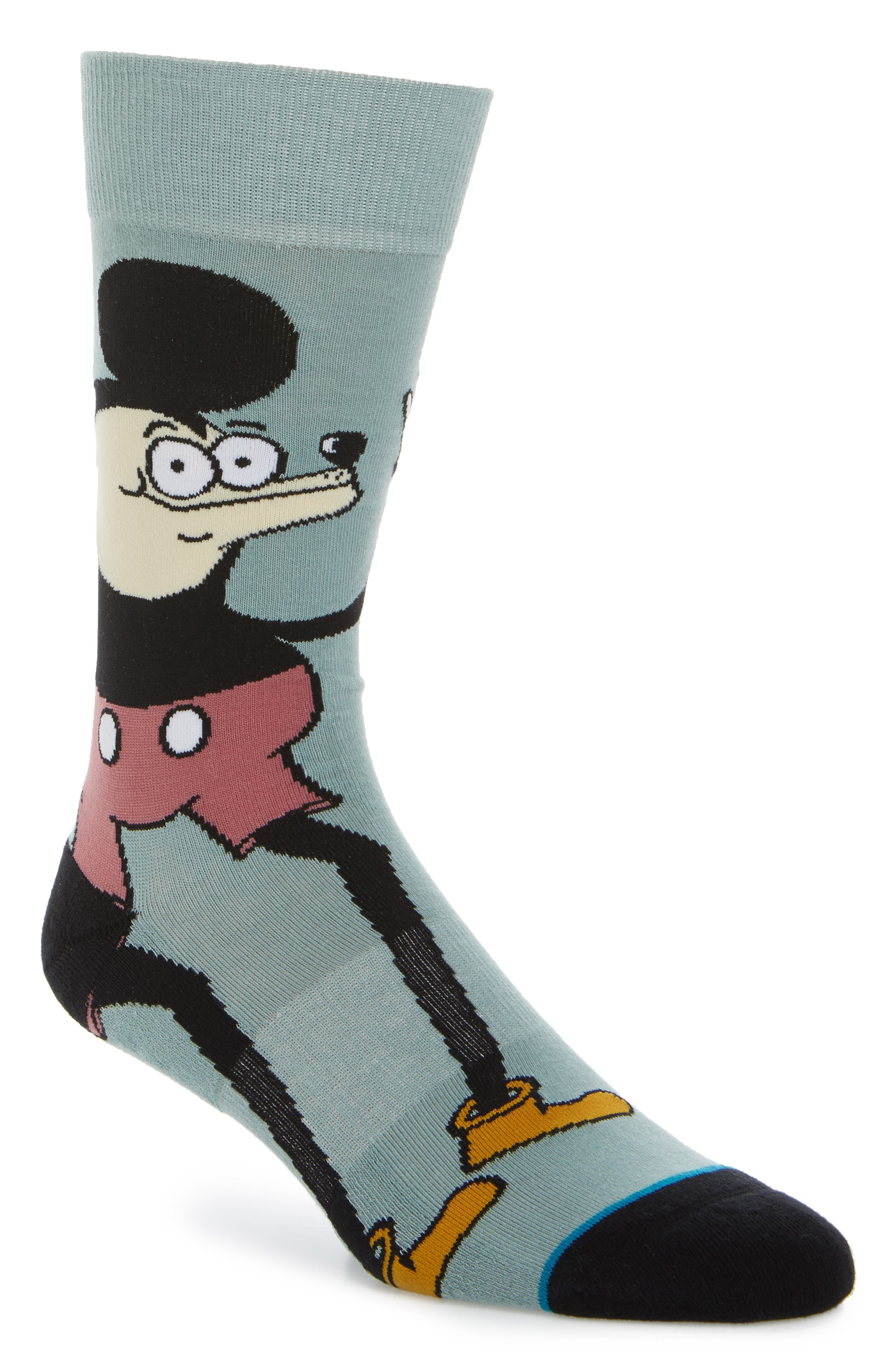 Howell Mouse Socks,                         Main,                         color, Blue