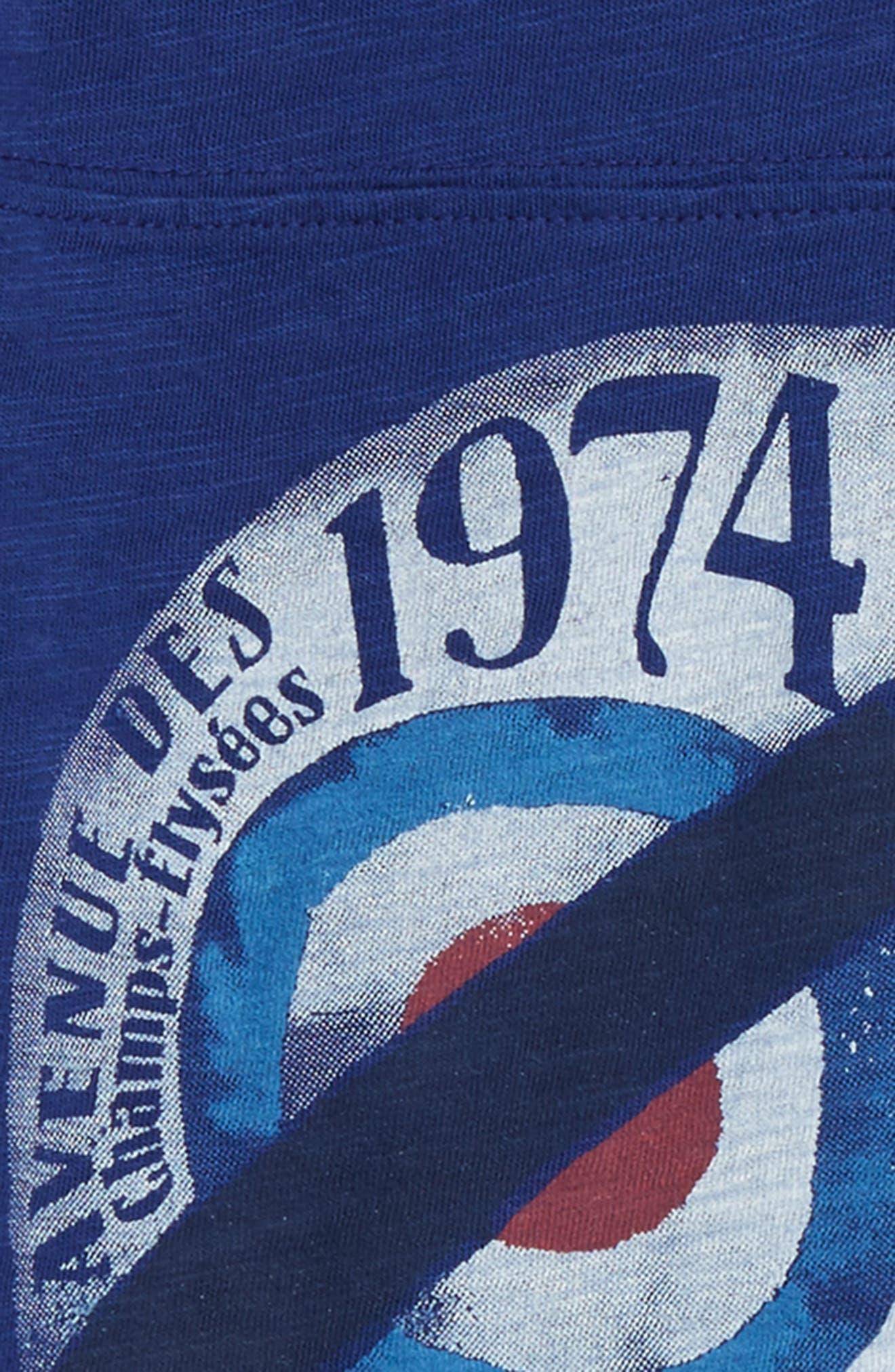 Alternate Image 2  - Peek Helmet Graphic T-Shirt (Toddler Boys, Little Boys & Big Boys)
