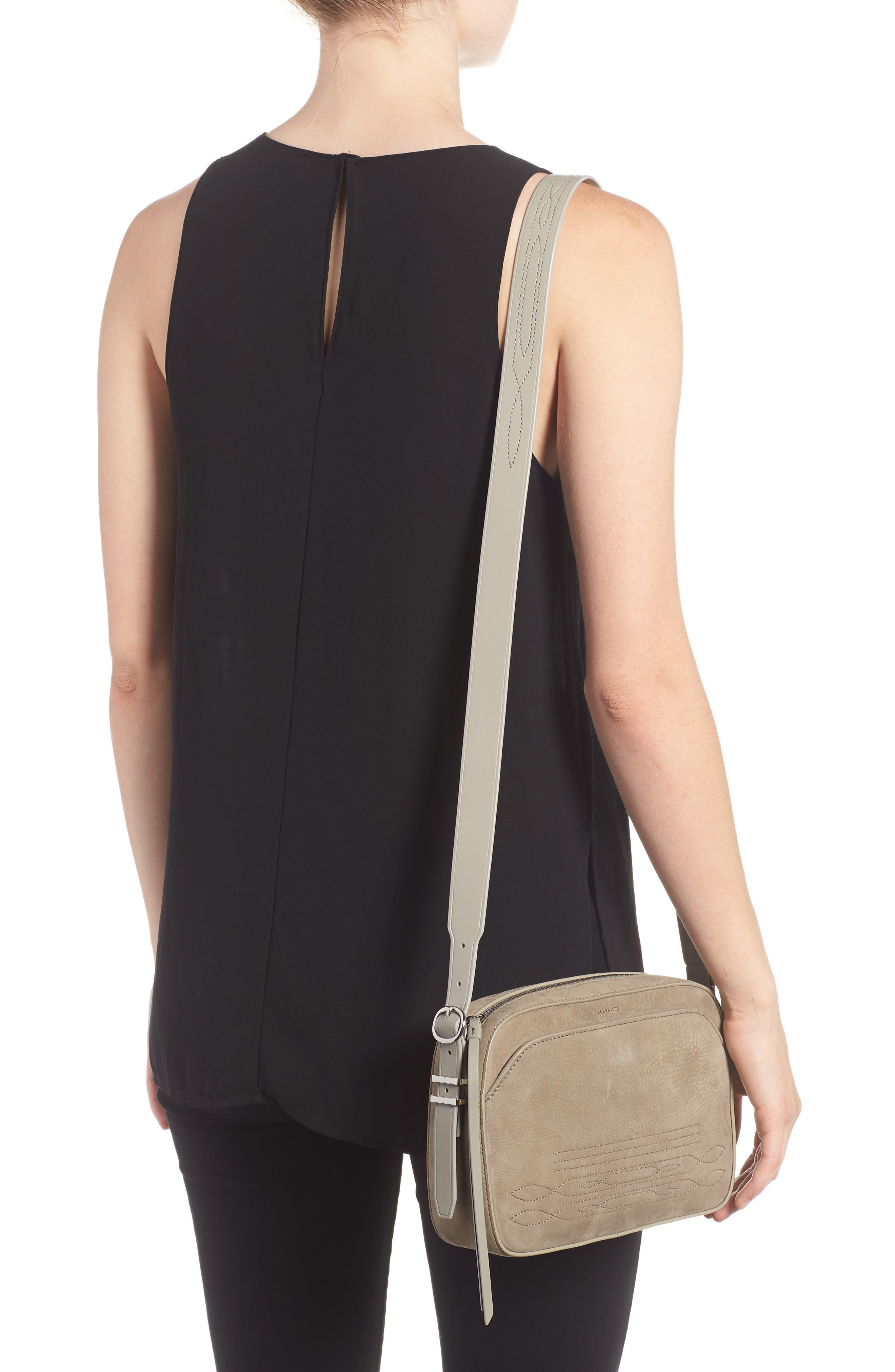 Cooper Nubuck Leather Shoulder Bag,                             Alternate thumbnail 2, color,                             Light Cement Grey