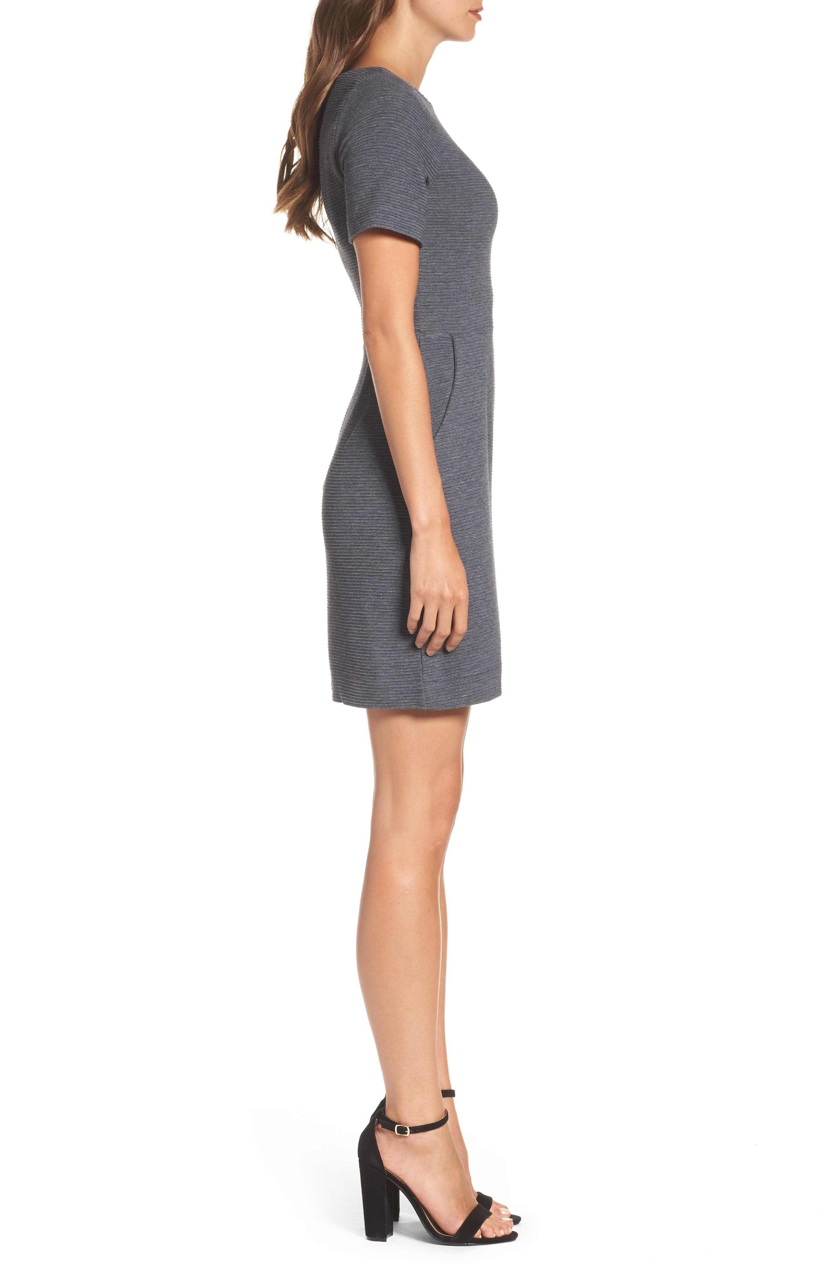 Sudan Fit & Flare Dress,                             Alternate thumbnail 3, color,                             Dark Grey