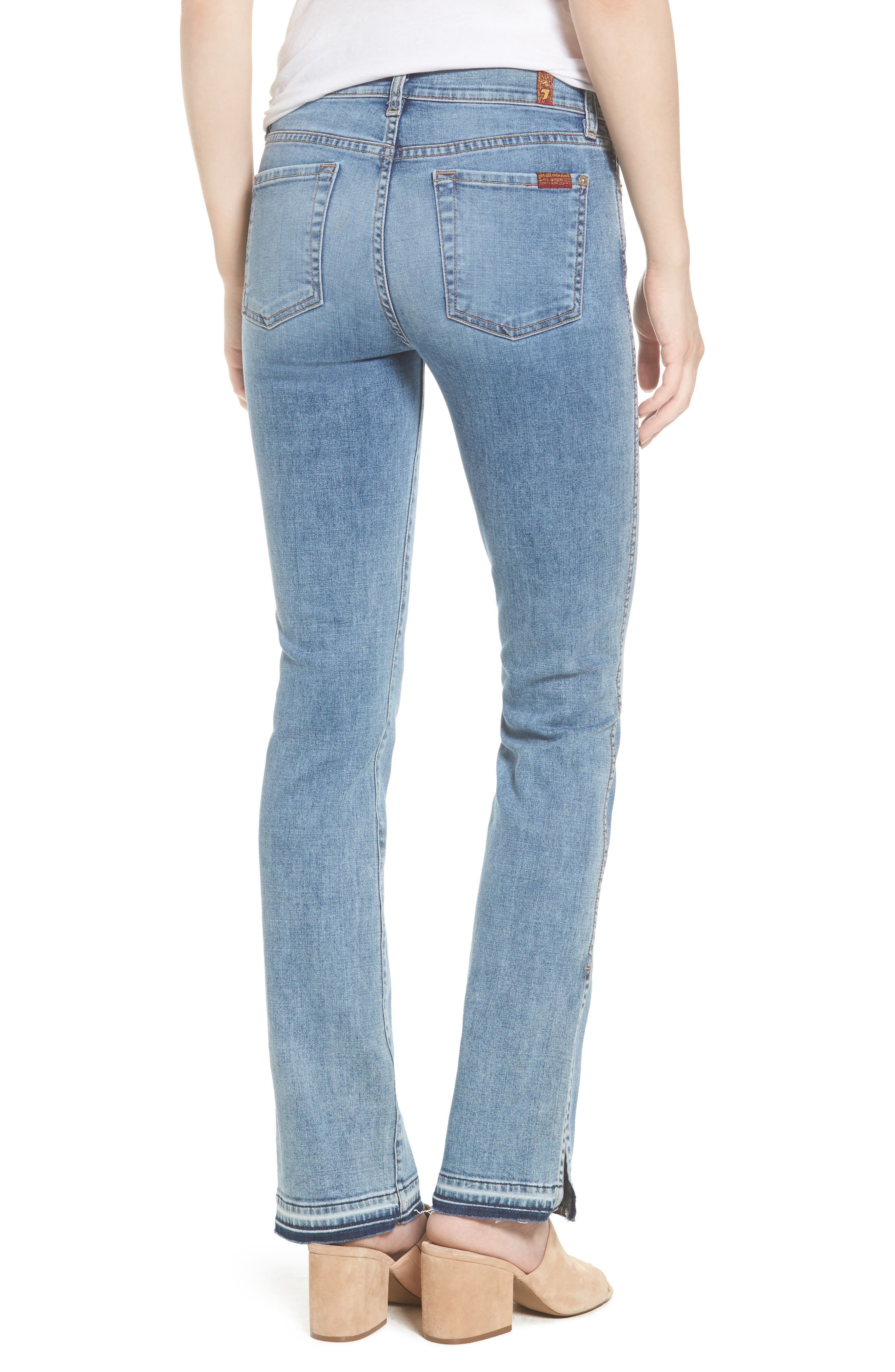 Alternate Image 2  - 7 For All Mankind® Dylan Split Hem Straight Leg Jeans (Light Lafayette)