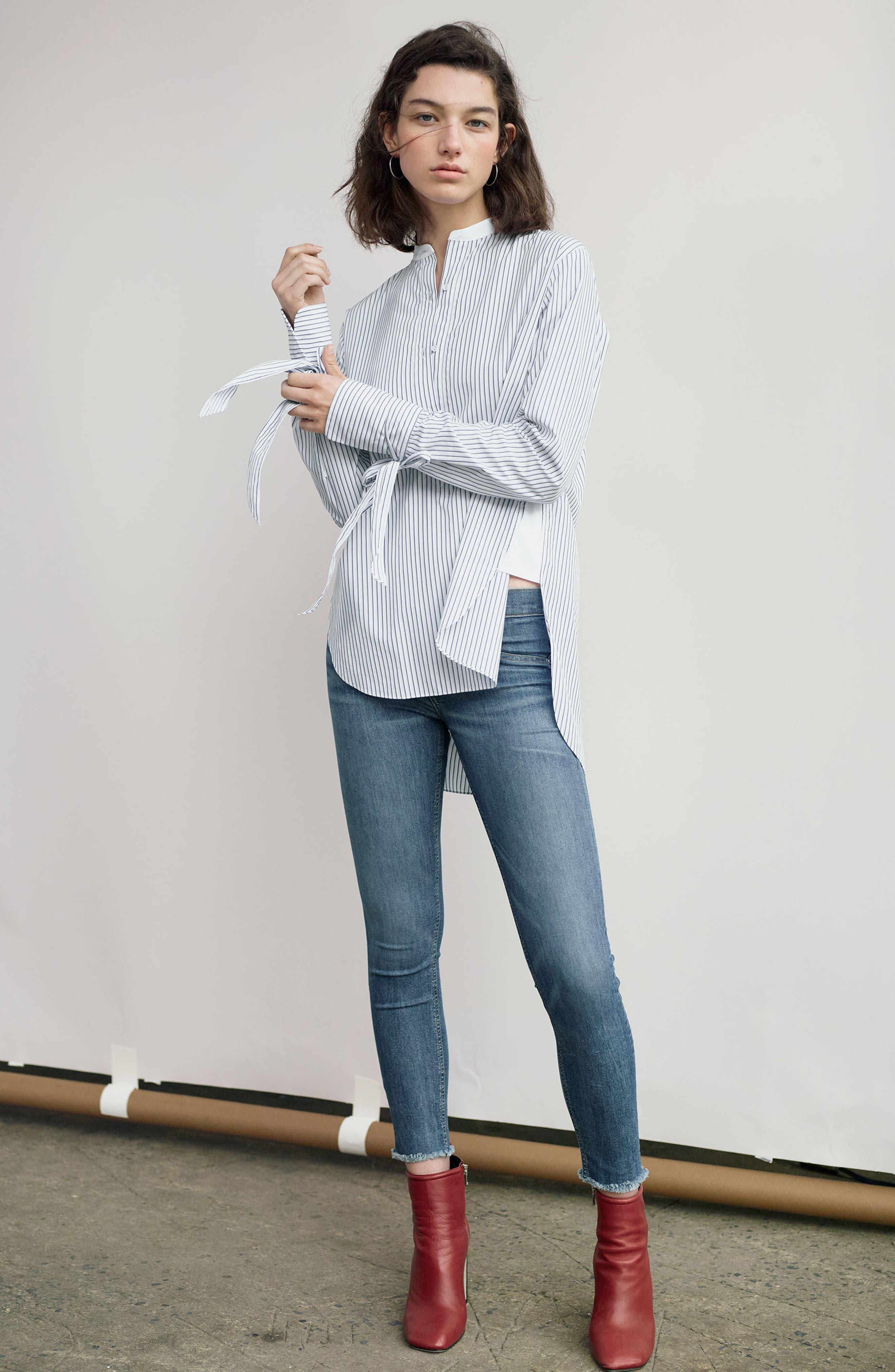 Alternate Image 2  - rag & bone/JEAN Skinny Jeans (Lucky Rouge)