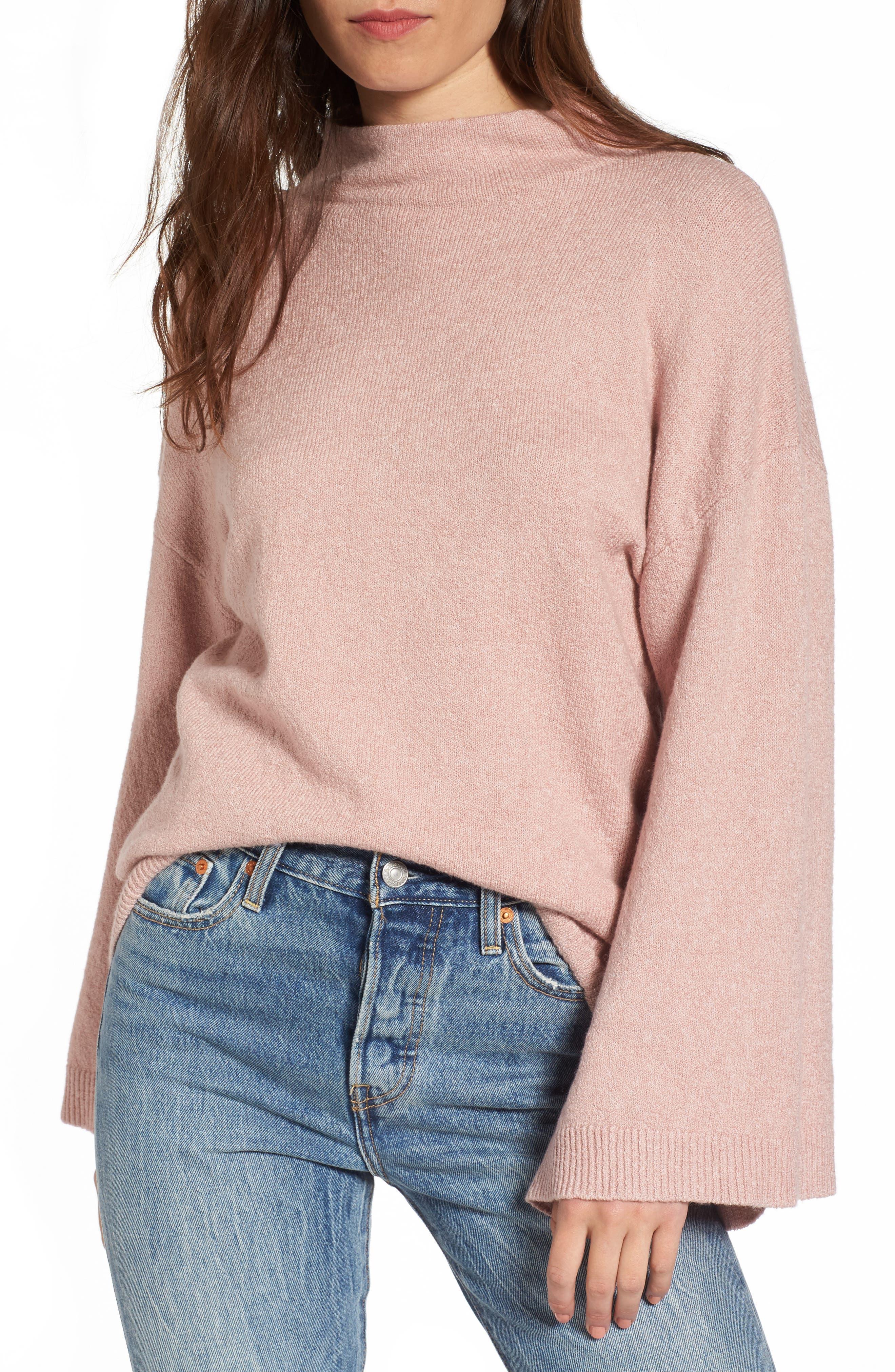 Dolman Sleeve Sweater,                         Main,                         color, Pink Adobe