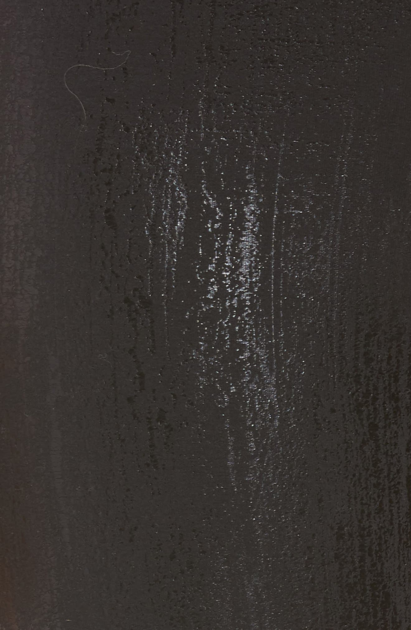 Slashed High Waist Leggings,                             Alternate thumbnail 6, color,                             Liquid Black