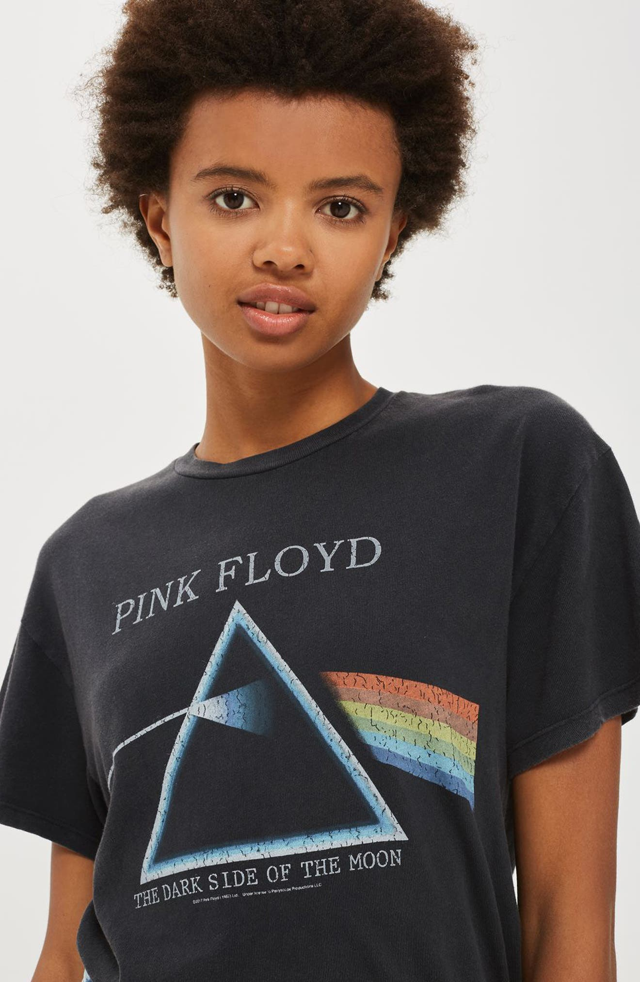 Alternate Image 3  - Topshop by And Finally Lace-Up Pink Floyd Tee