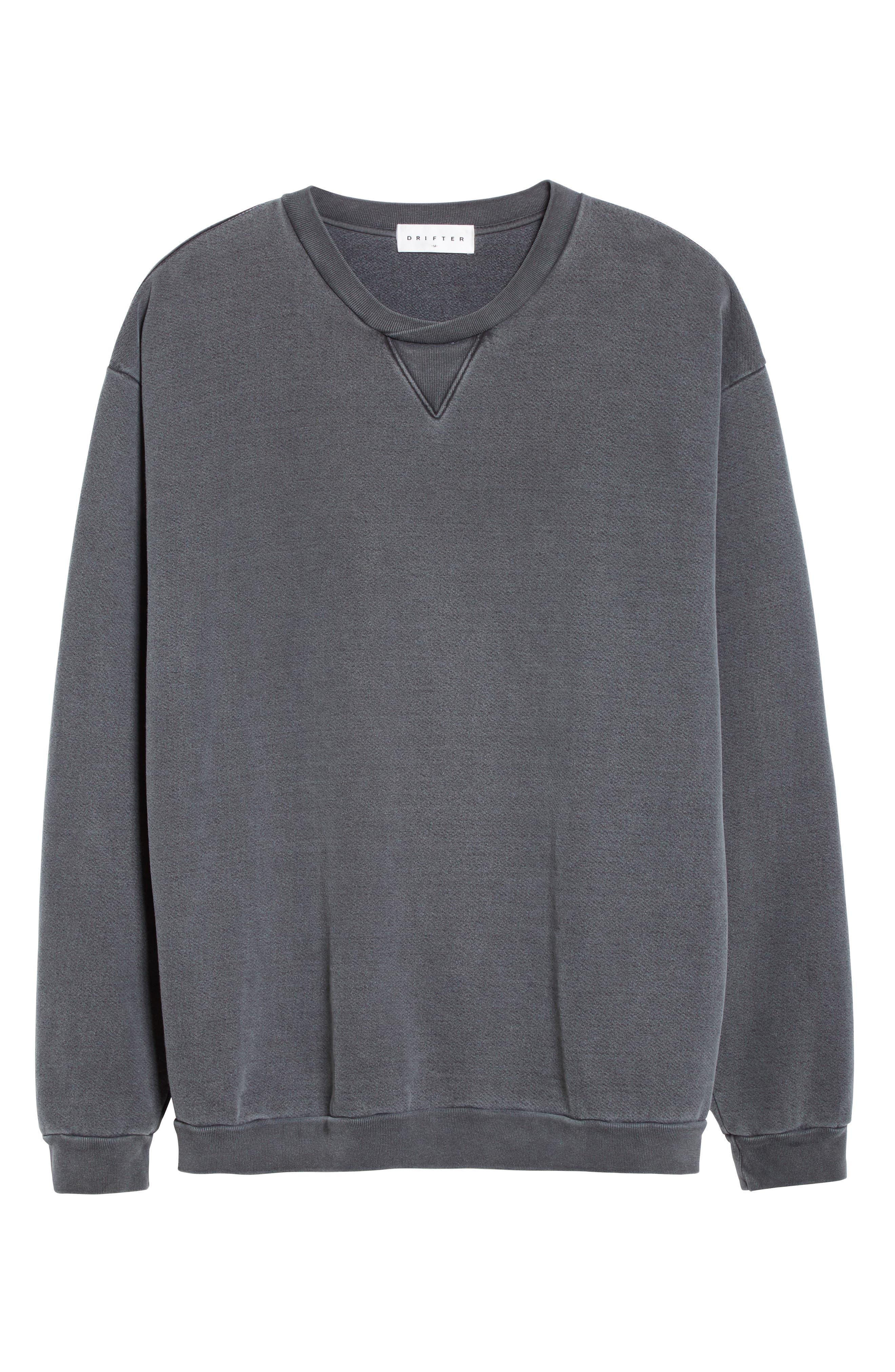 Norton Sweatshirt,                             Alternate thumbnail 6, color,                             Black Pigment