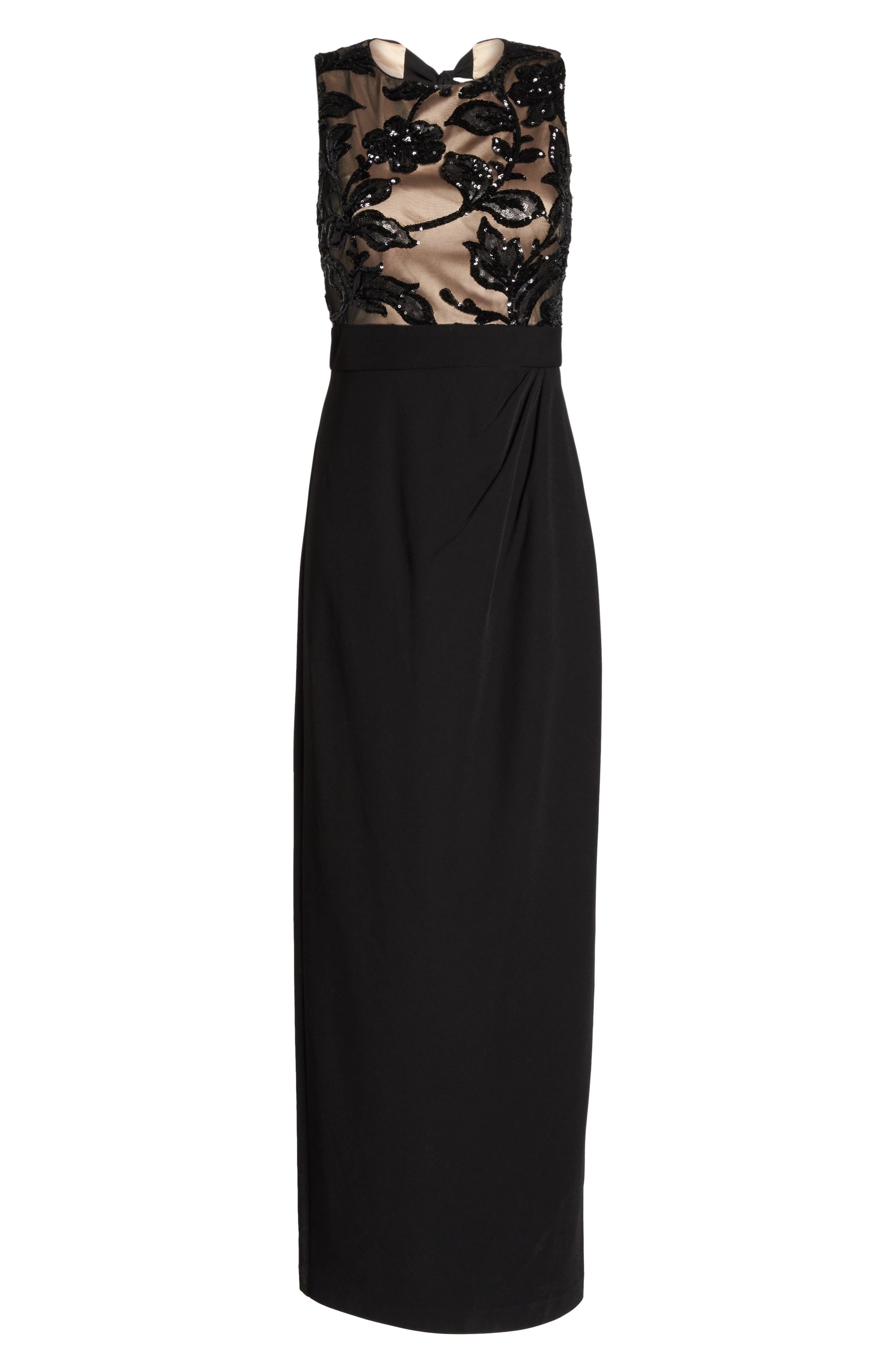 Alternate Image 6  - Vince Camuto Sequin Crepe Column Gown