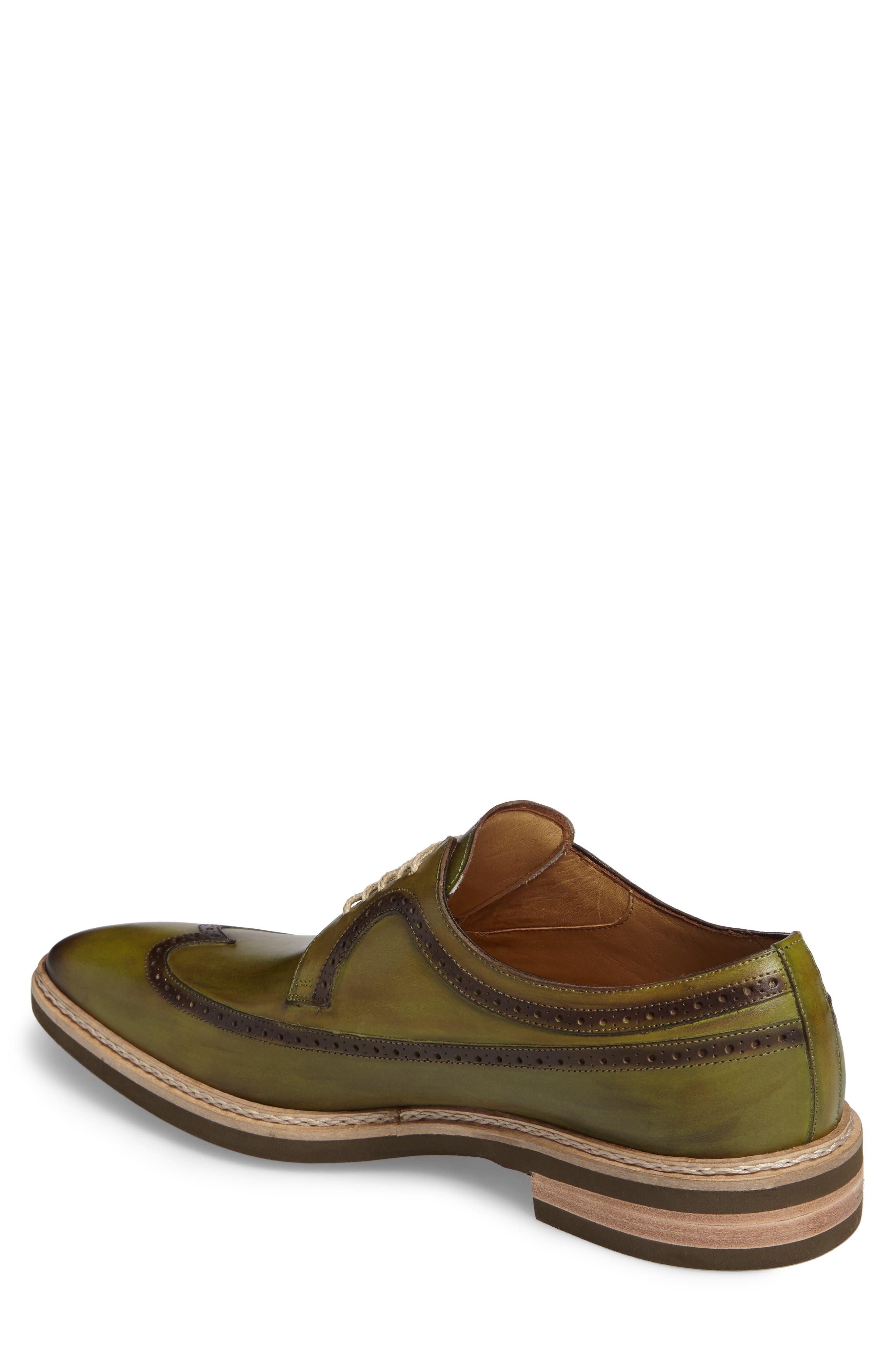 Maraval Wingtip,                             Alternate thumbnail 2, color,                             Olive Leather