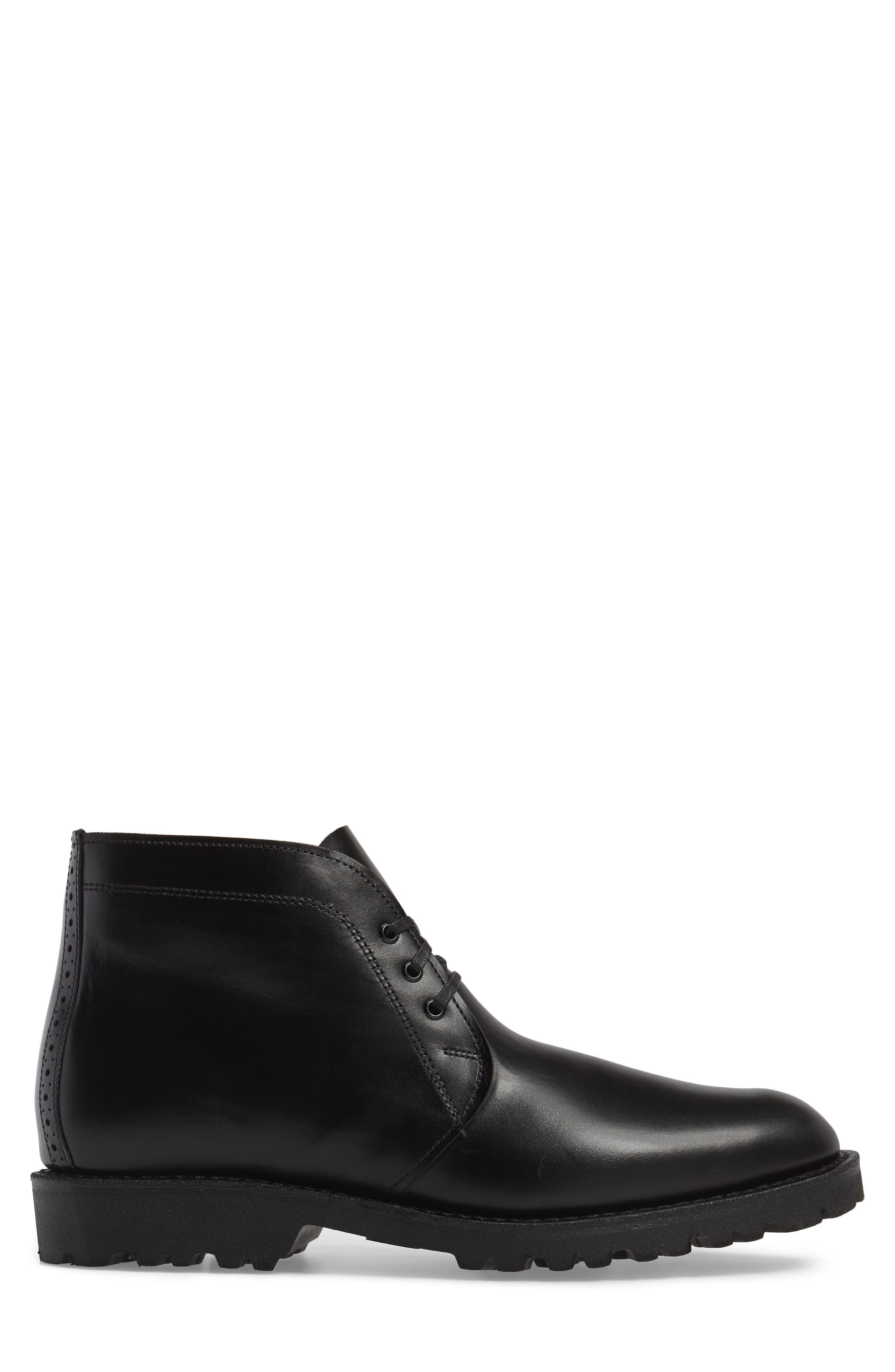 Tate Chukka Boot,                             Alternate thumbnail 3, color,                             Black Leather