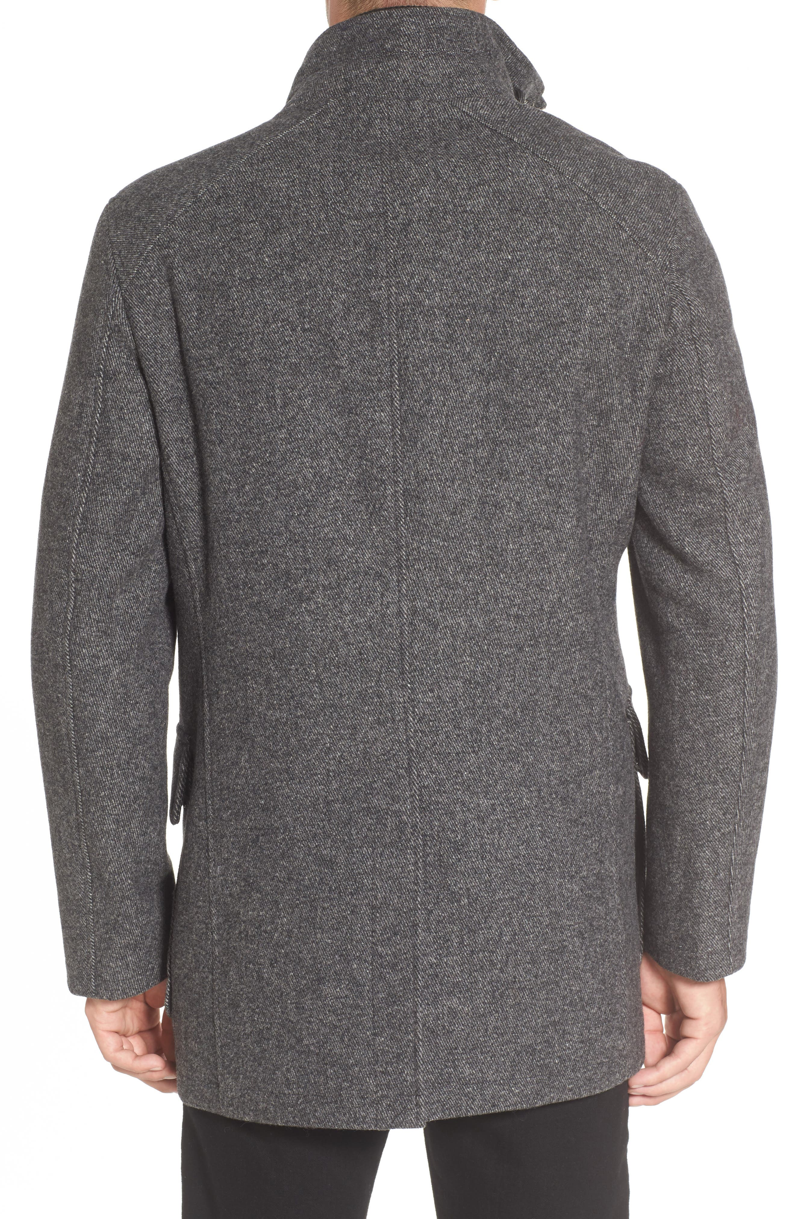Alternate Image 2  - Cole Haan Wool Blend Car Coat with Removable Knit Bib
