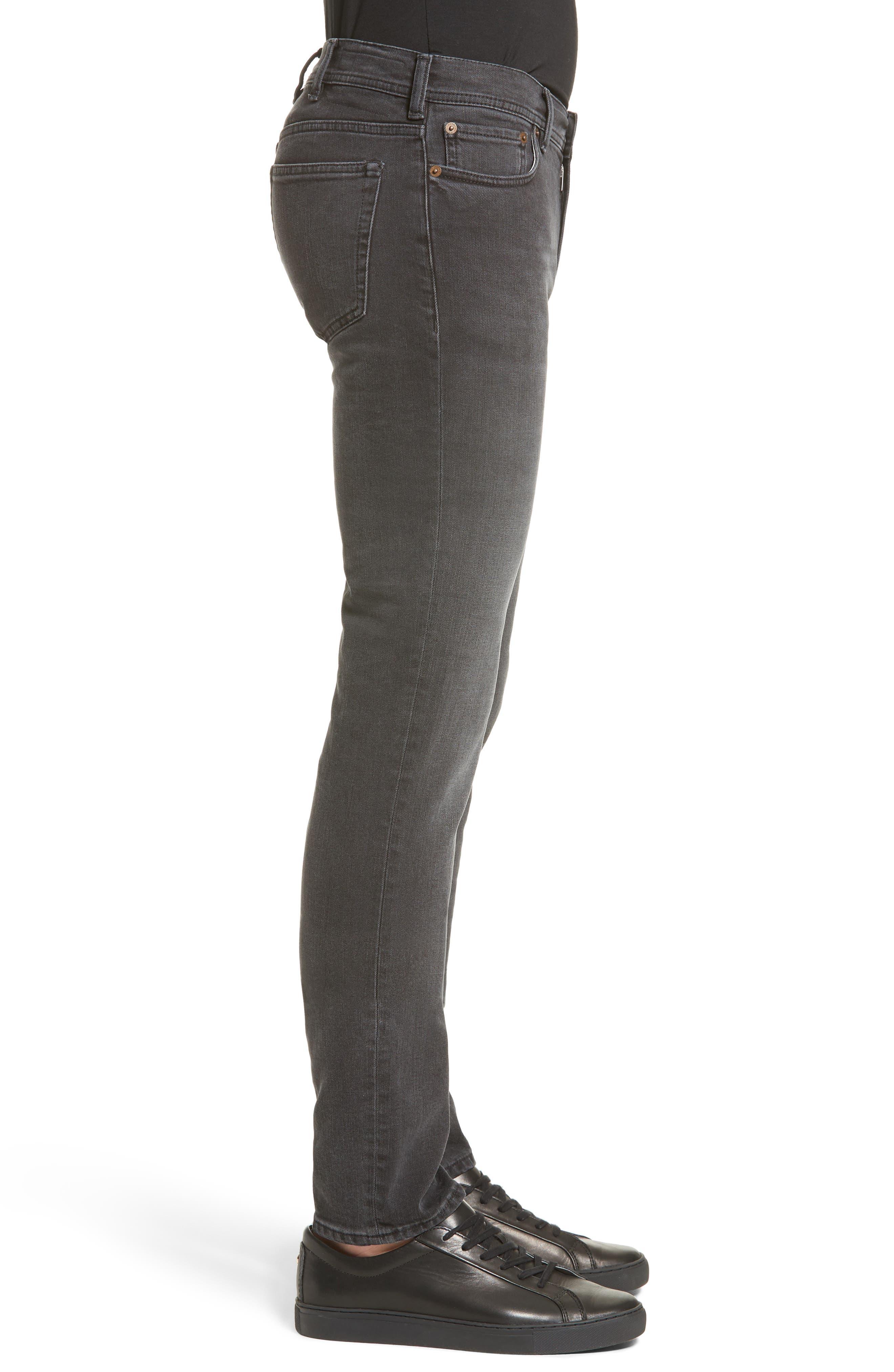 Alternate Image 3  - ACNE Studios North Skinny Fit Jeans (Used Black)