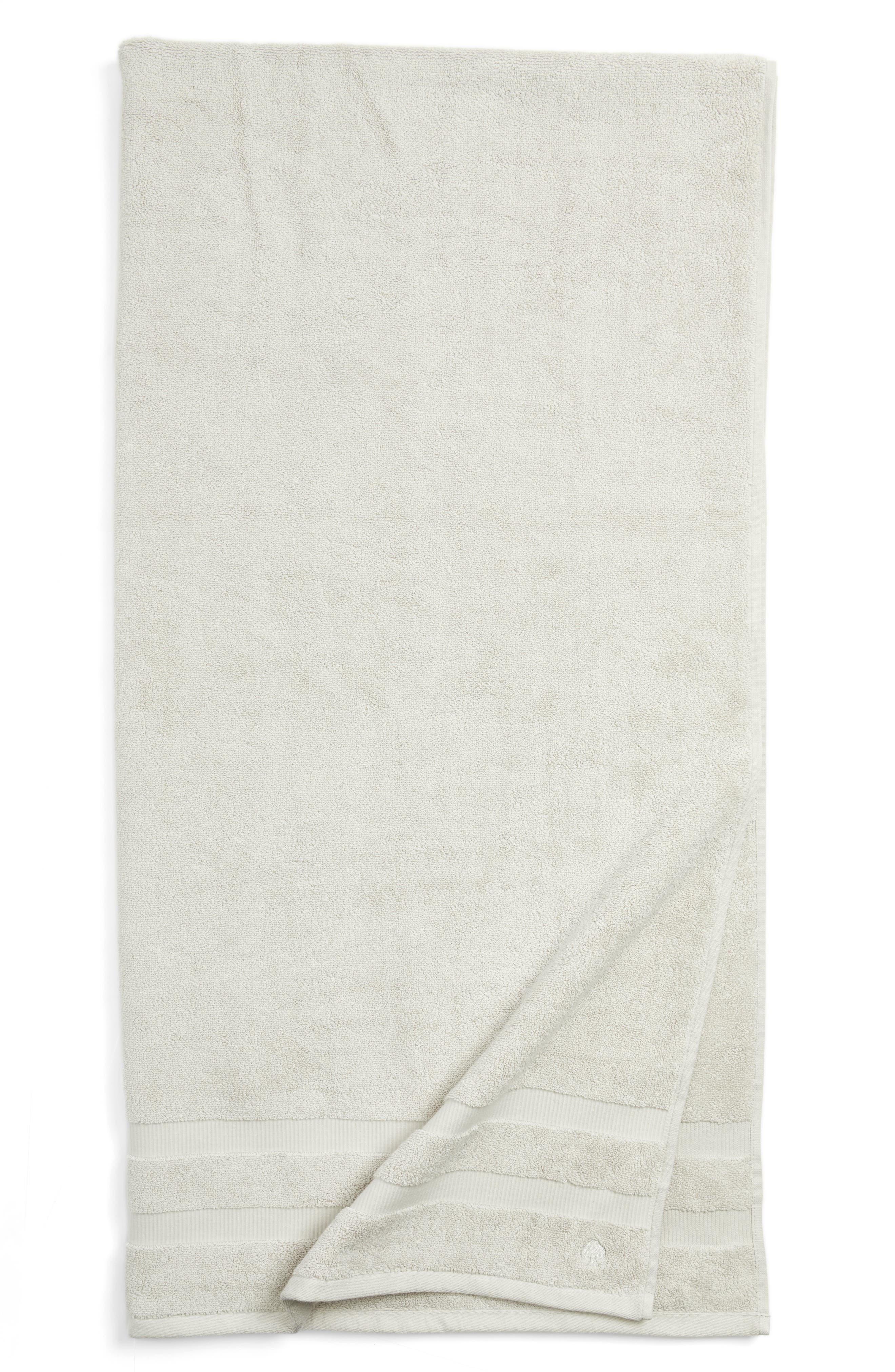 'chattam' stripe bath sheet,                             Main thumbnail 1, color,                             Platinum