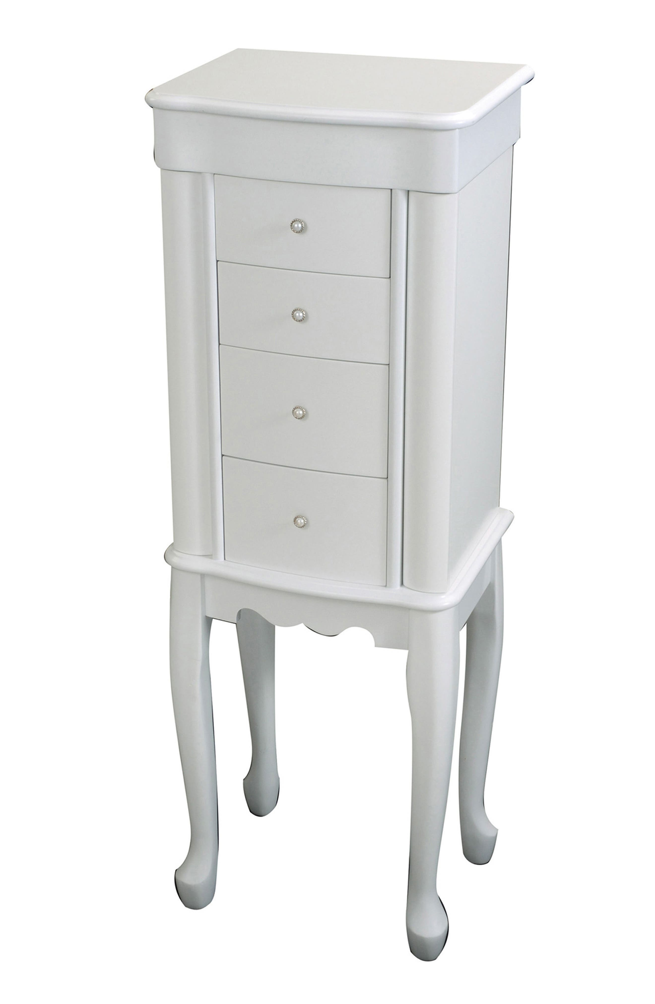 Alexis Jewelry Armoire,                         Main,                         color, White