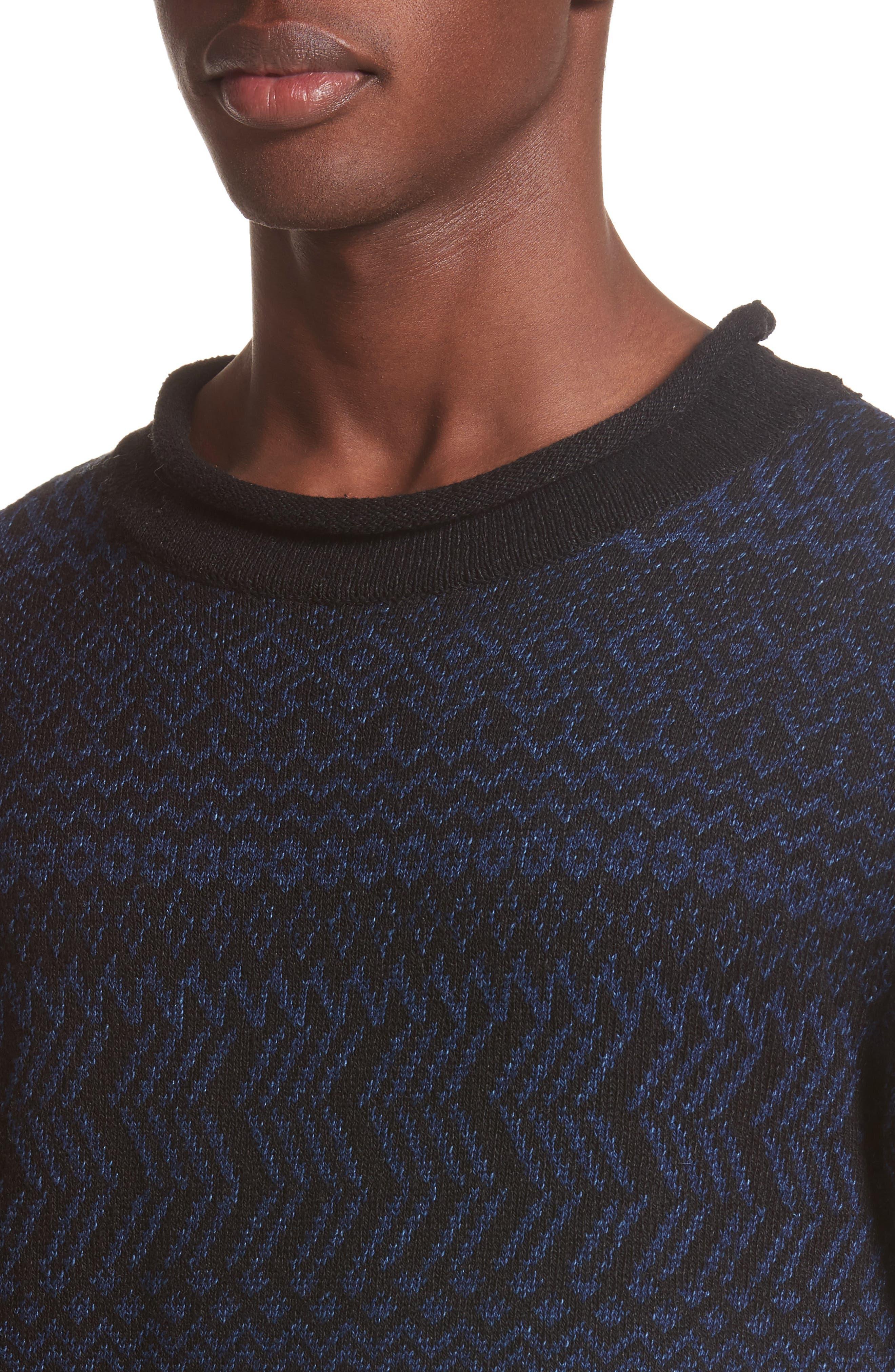 Alternate Image 4  - Eidos Napoli Fair Isle Roll Neck Sweater