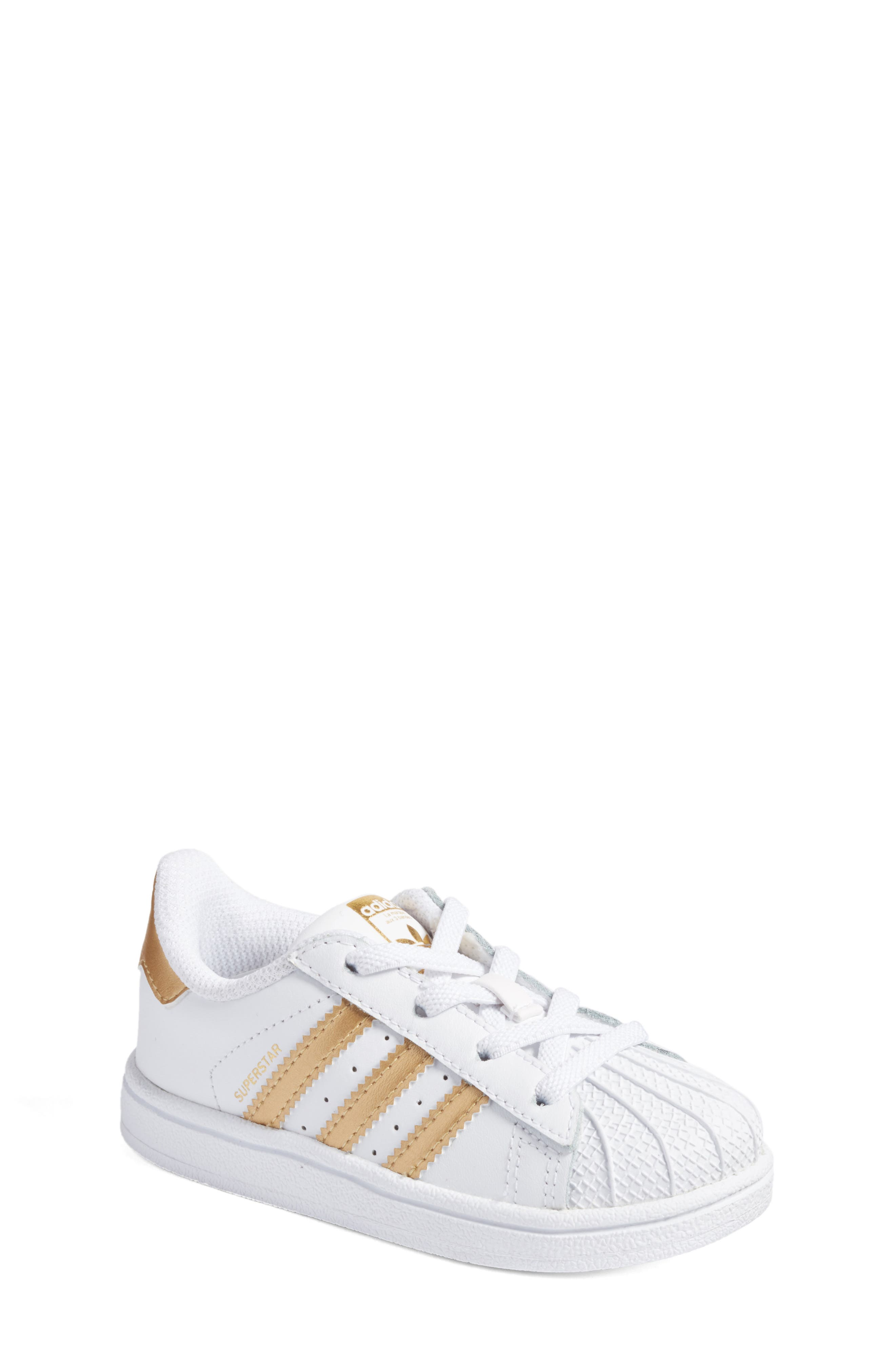 adidas Superstar I Sneaker (Baby, Walker \u0026 Toddler)