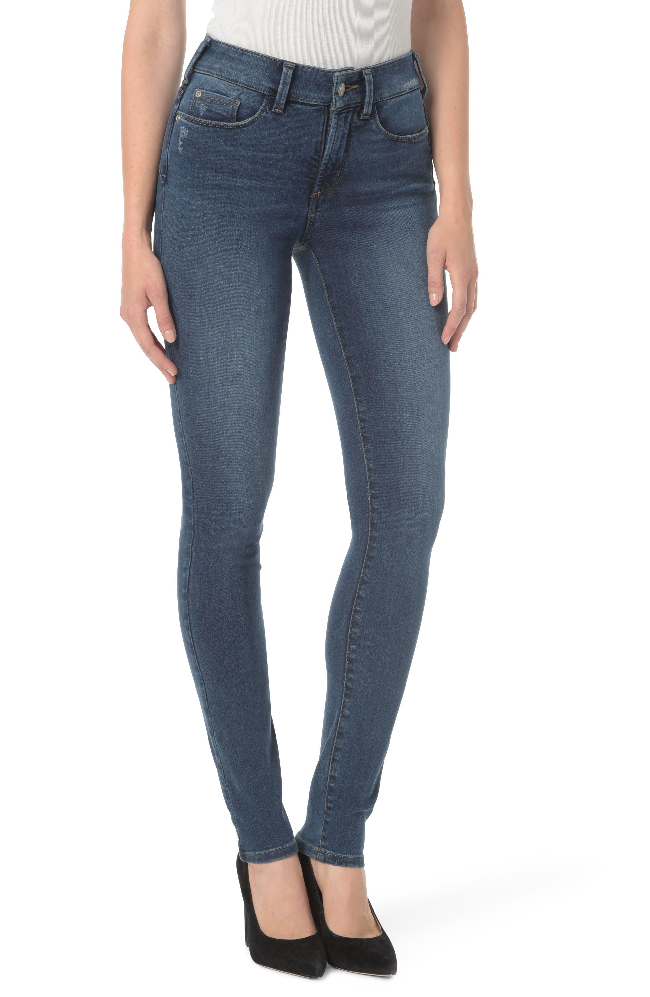 Alina Uplift Stretch Skinny Jeans,                             Main thumbnail 1, color,                             Traveler