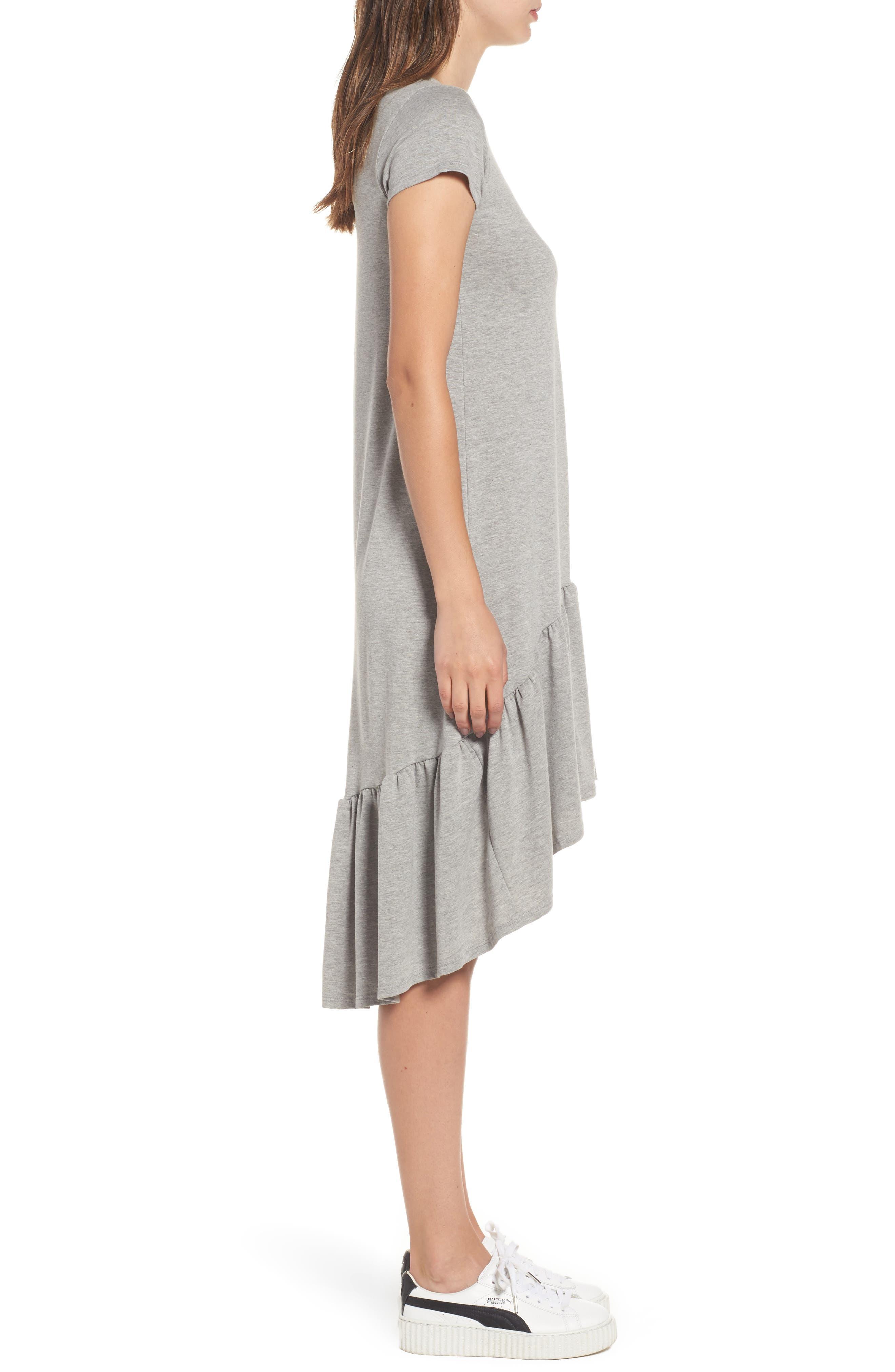 Alternate Image 3  - Cotton Emporium Ruffle Hem Knit T-Shirt Dress