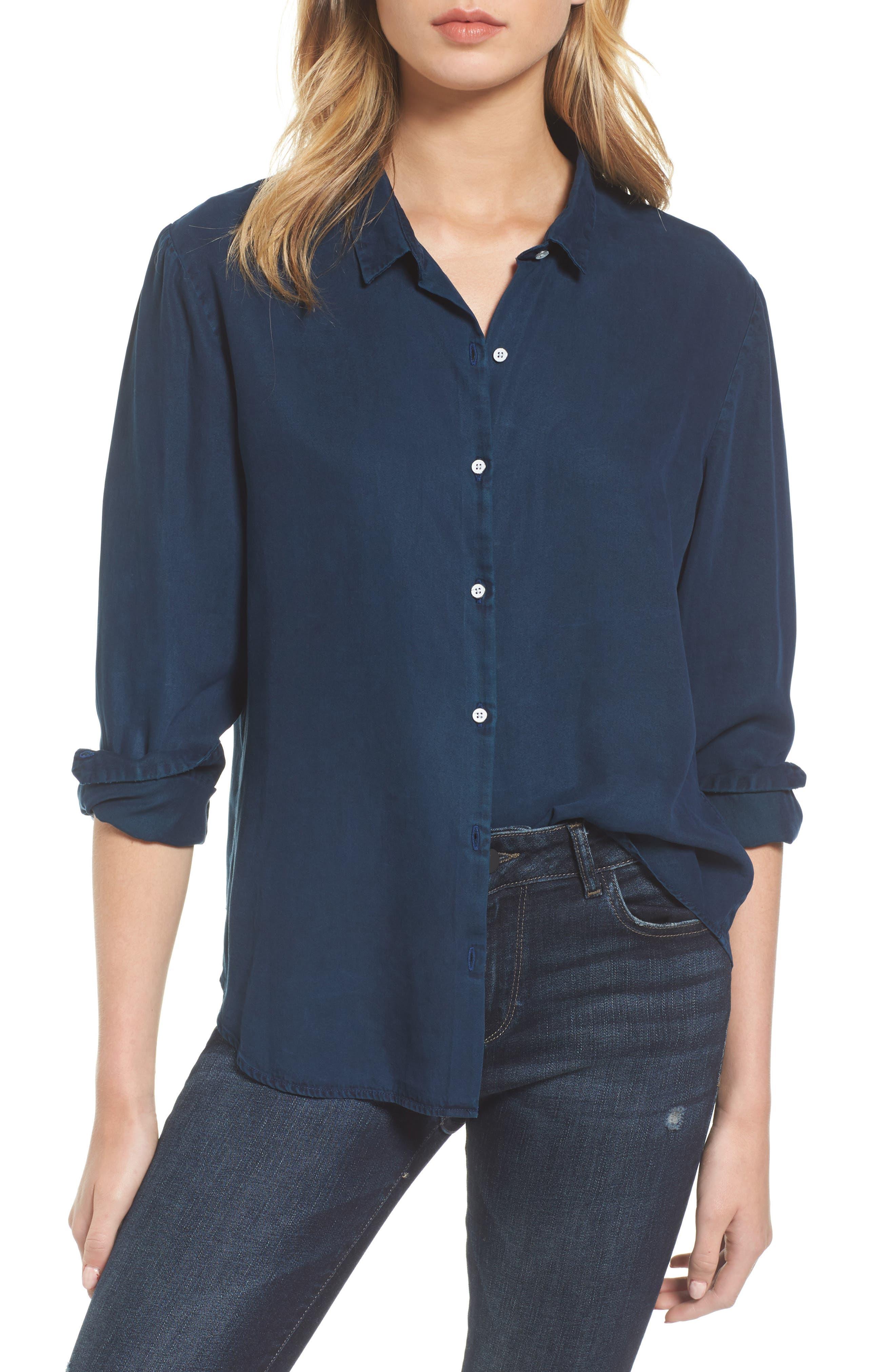 x The Blue Shirt Shop W 4th & Jane Slim Fit Shirt,                         Main,                         color, Indigo Overdye
