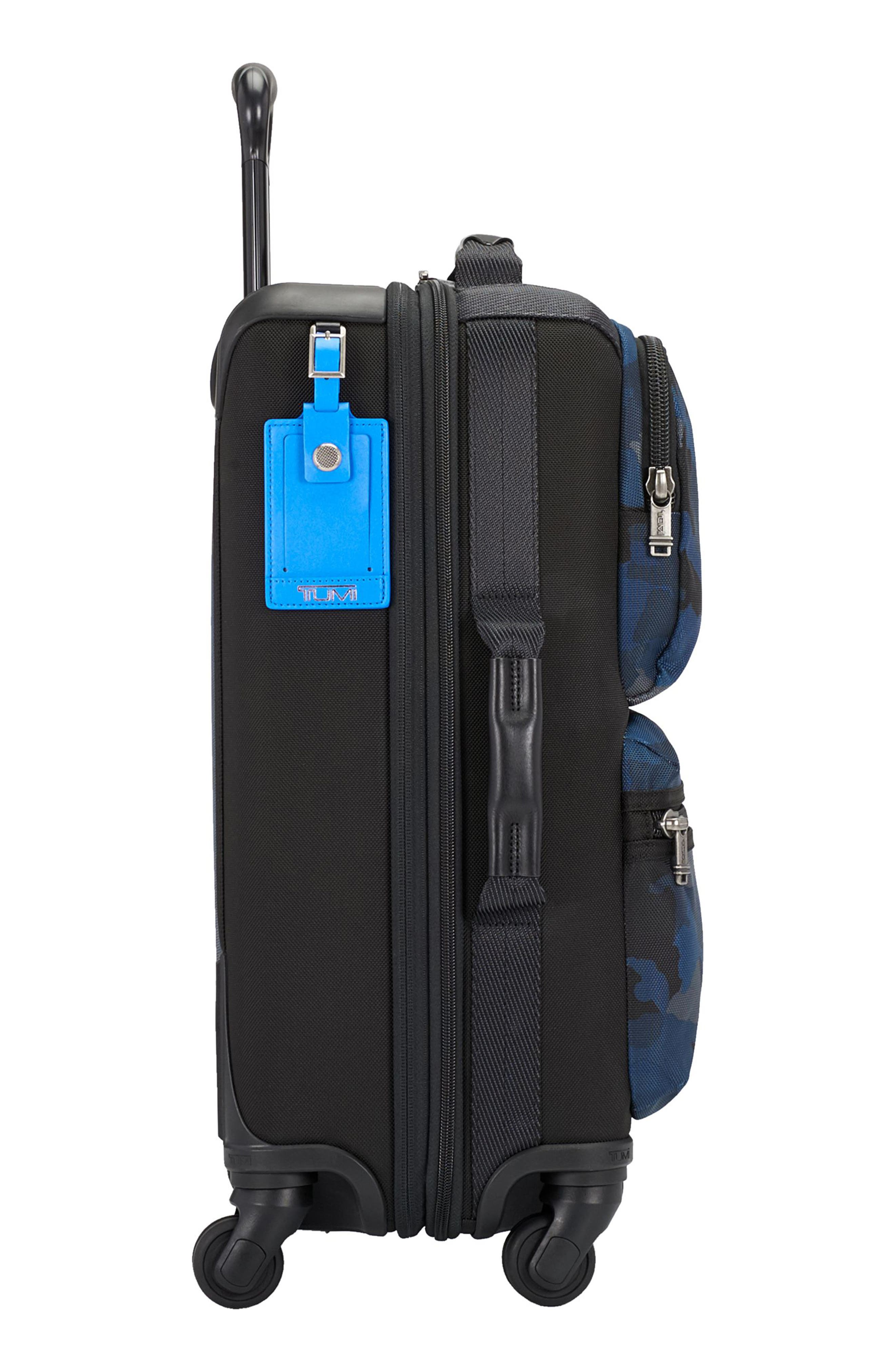 Alpha Bravo Kirtland 22 Inch Expandable Continental Wheeled Carry-On,                             Alternate thumbnail 5, color,                             Blue Camo