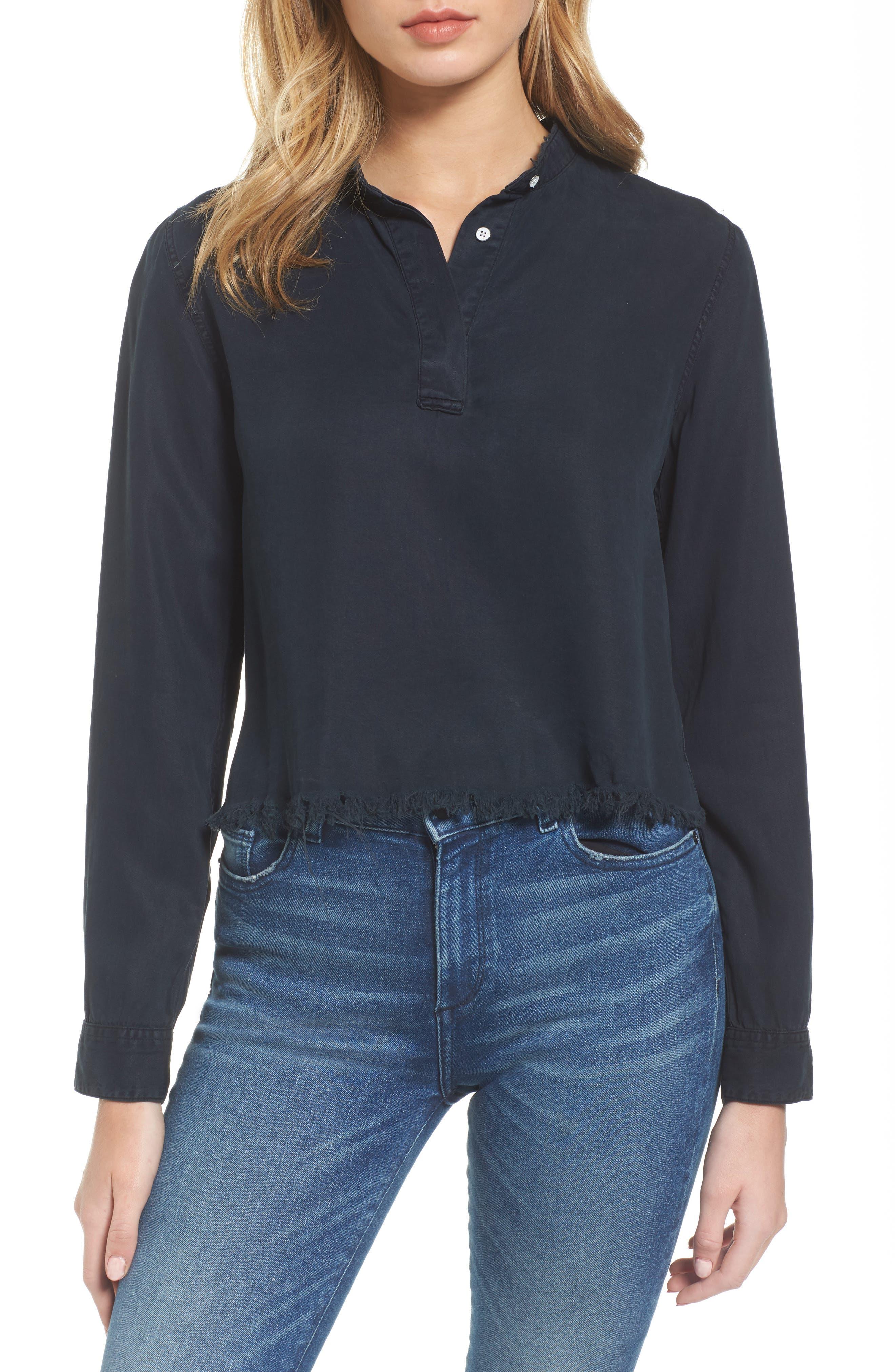 DL1961 x The Blue Shirt Shop W 3rd & Sullivan Crop Shirt