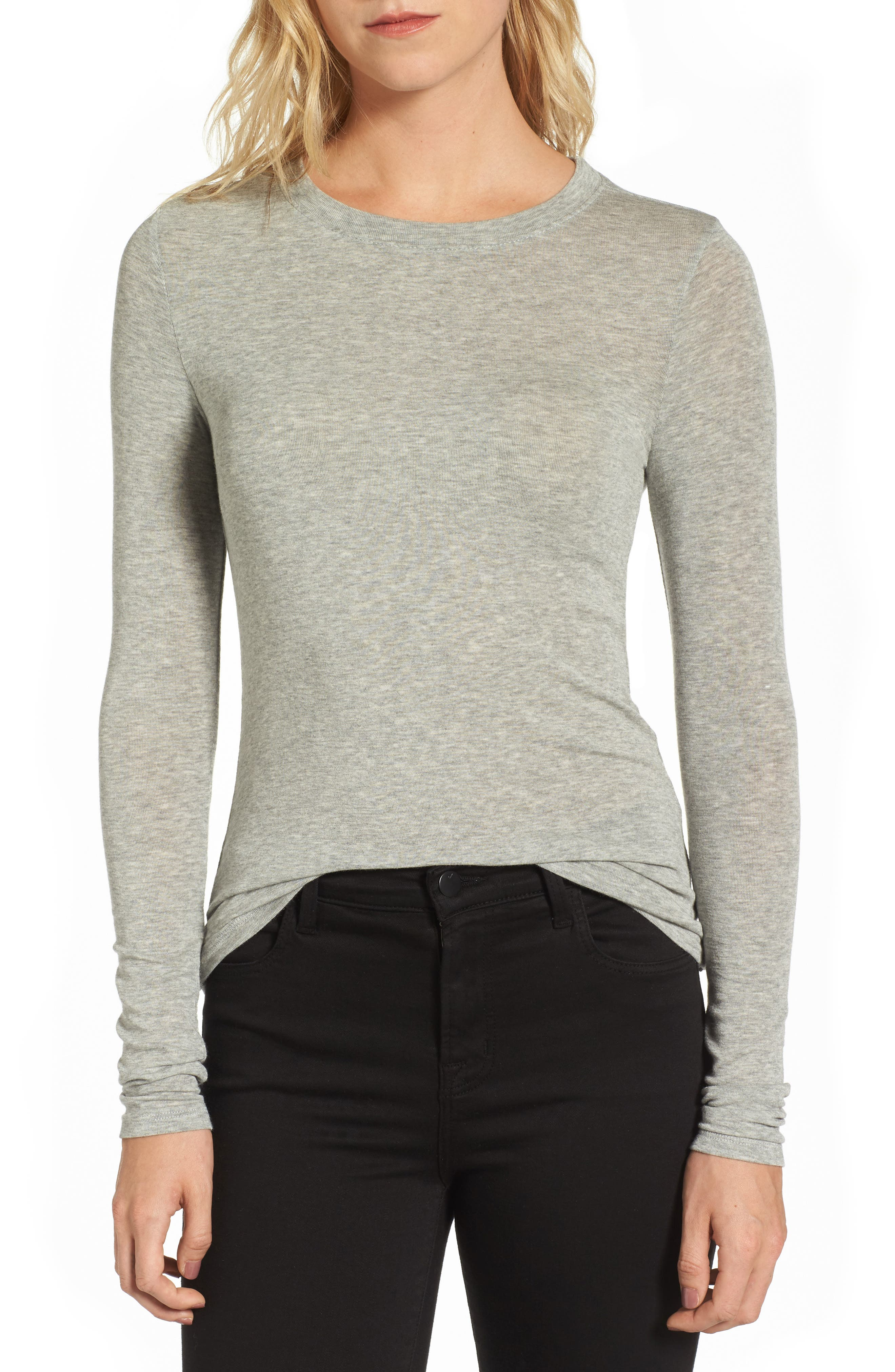Layering Tee,                         Main,                         color, Grey Heather