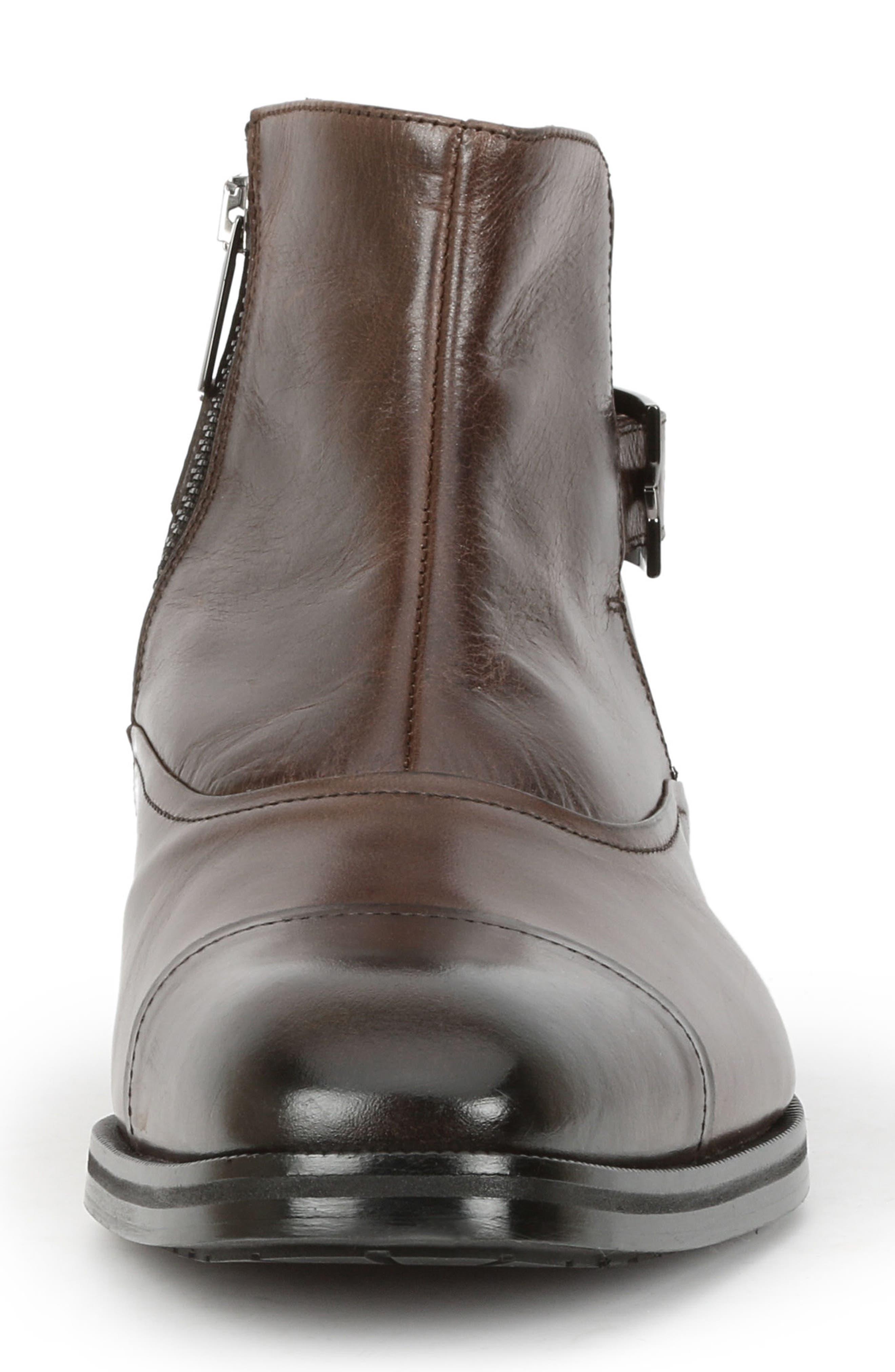 'Arcadia' Cap Toe Boot,                             Alternate thumbnail 4, color,                             Dark Brown Leather