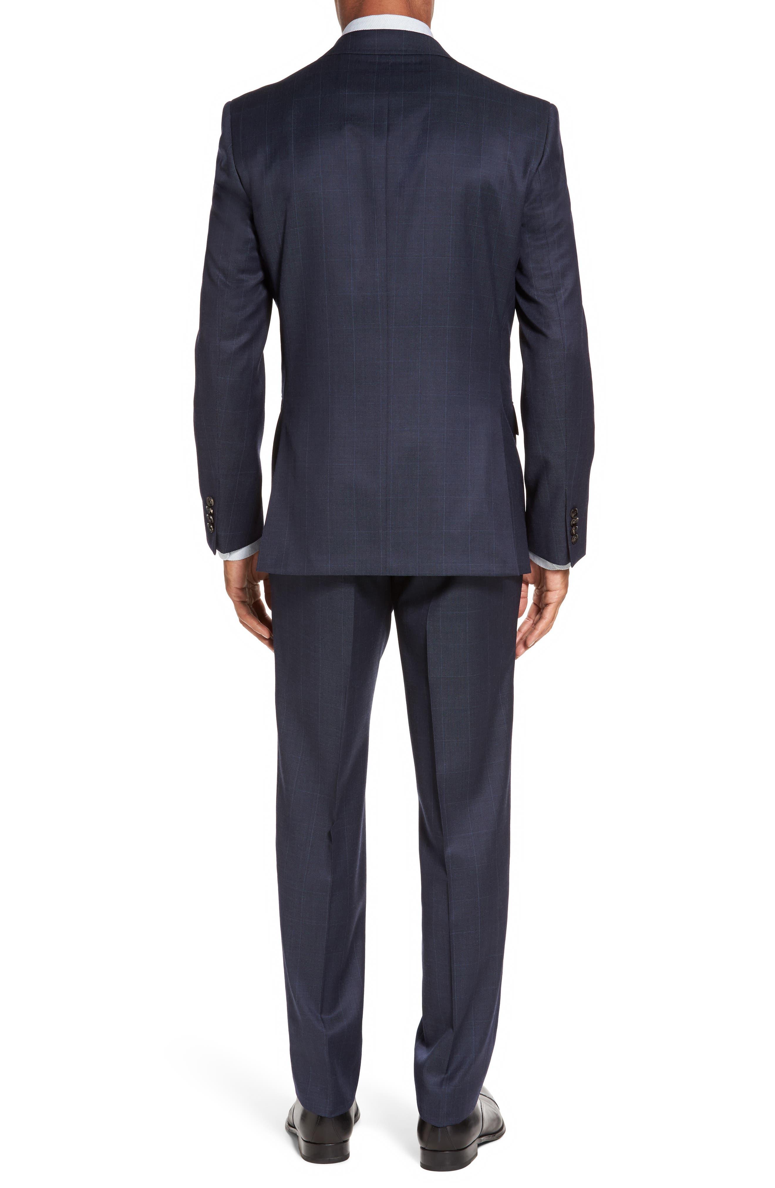 Alternate Image 2  - Ted Baker London Jay Trim Fit Windowpane Wool Suit