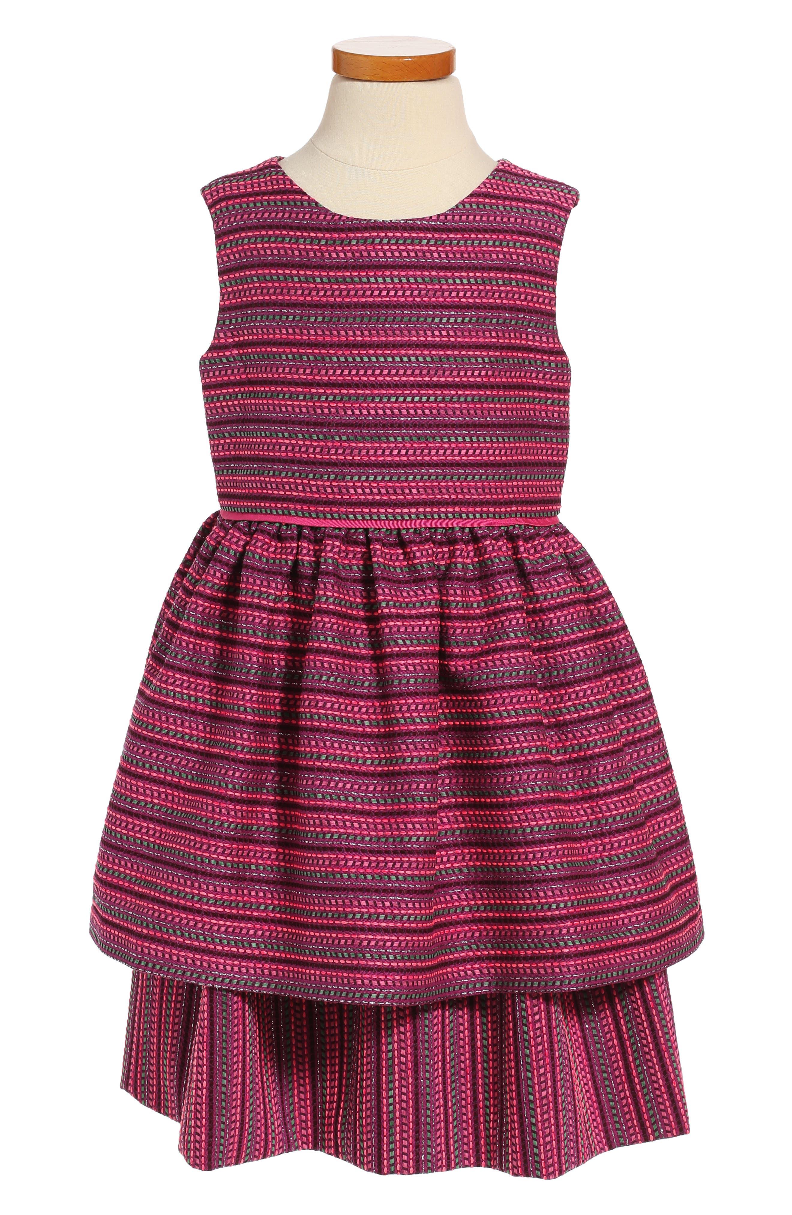 Oscar de la Renta Tiered Sleeveless Dress (Big Girls)
