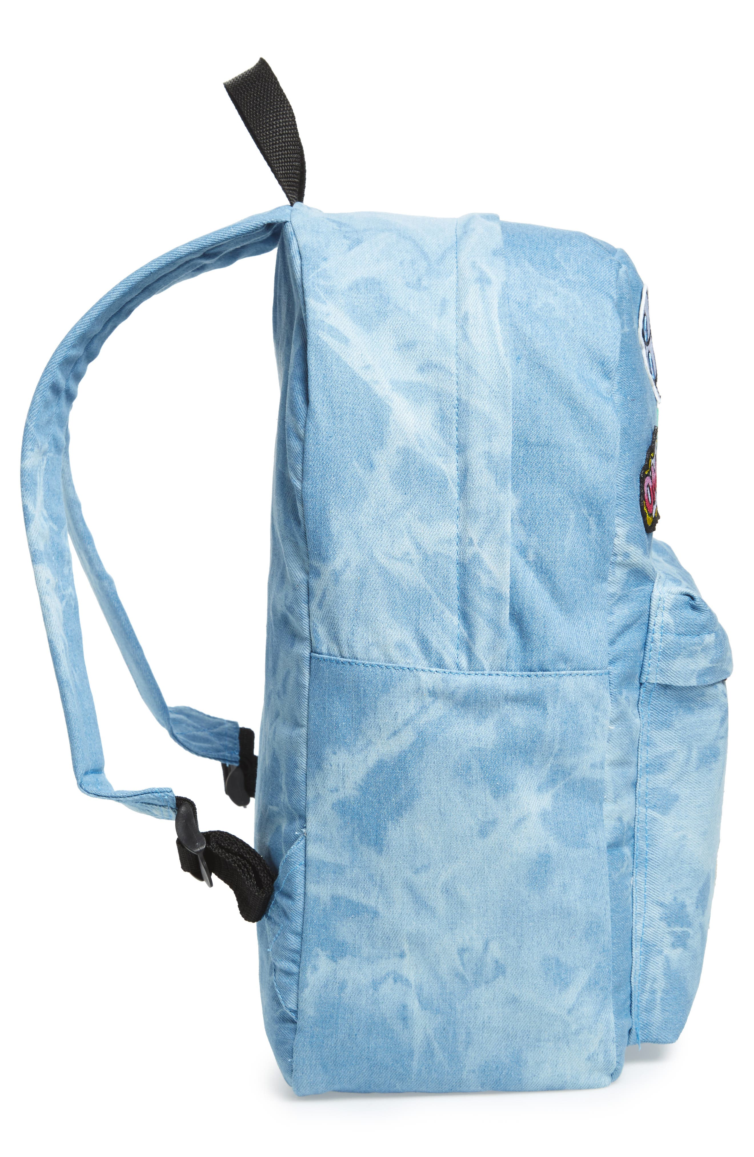 Accessory Collective Tie Dye Backpack,                             Alternate thumbnail 3, color,                             Blue