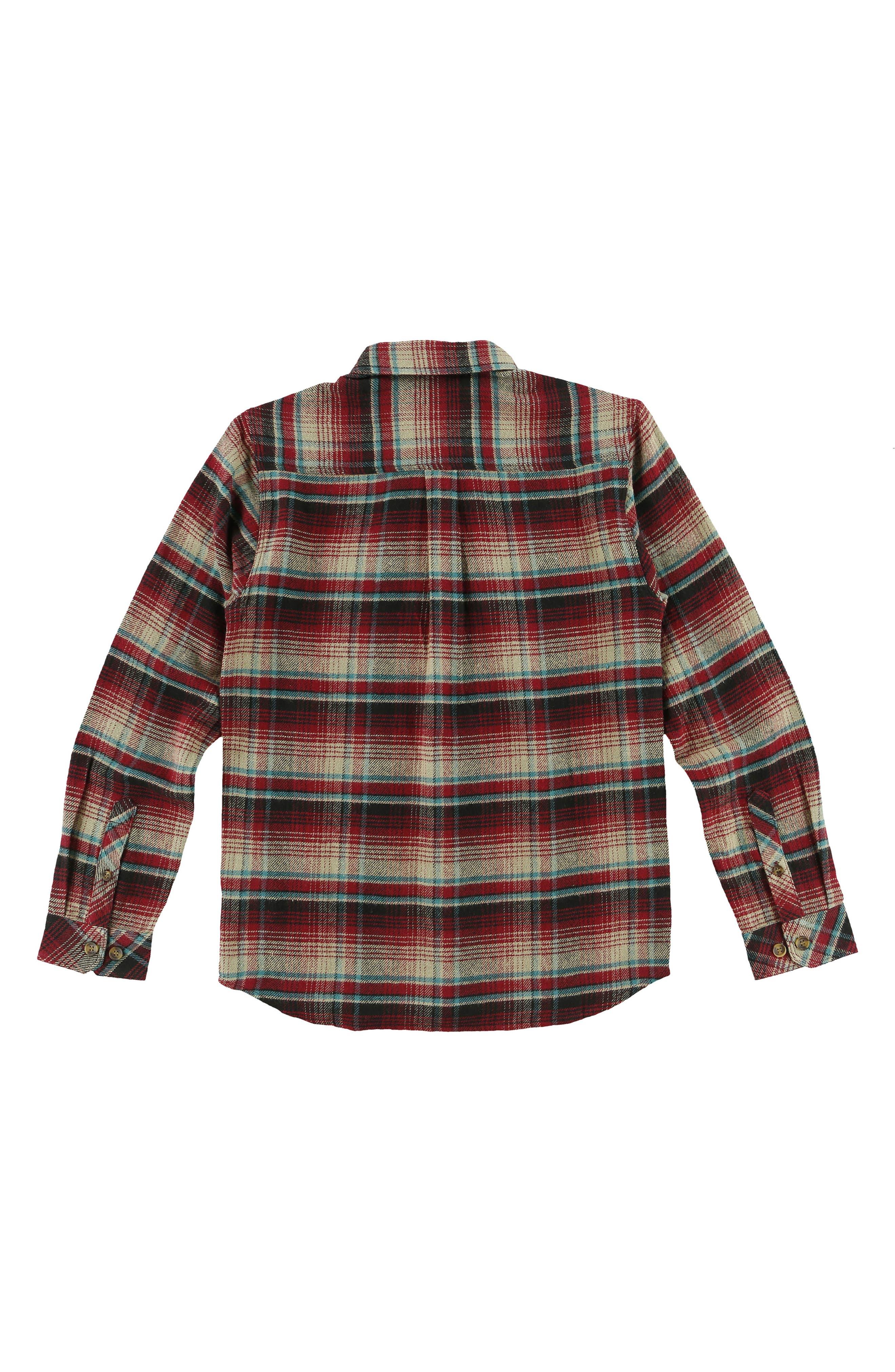 Alternate Image 2  - O'Neill Butler Plaid Flannel Shirt (Big Boys)
