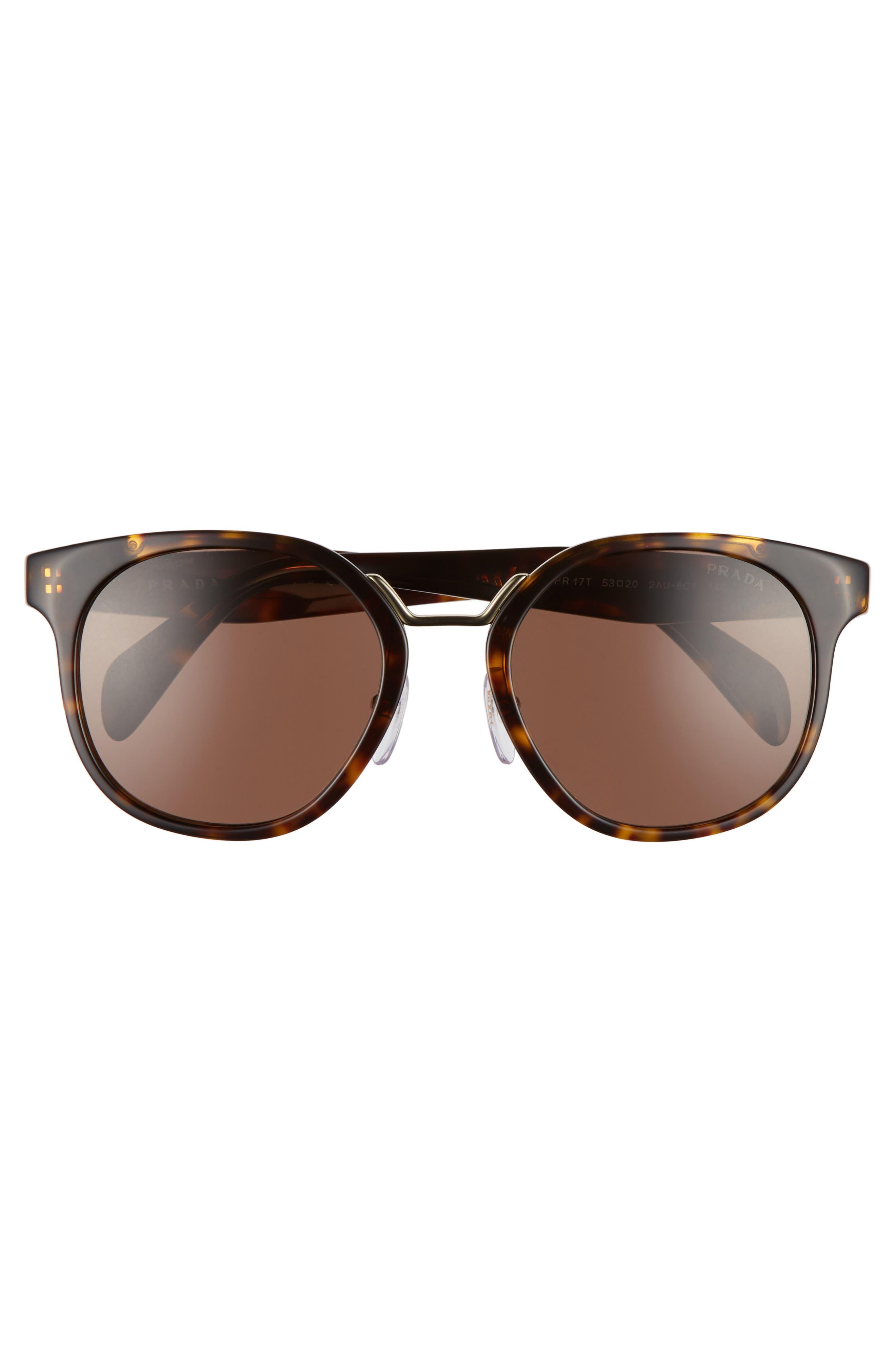 53mm Horn-Rimmed Sunglasses,                             Alternate thumbnail 2, color,                             Brown Havana