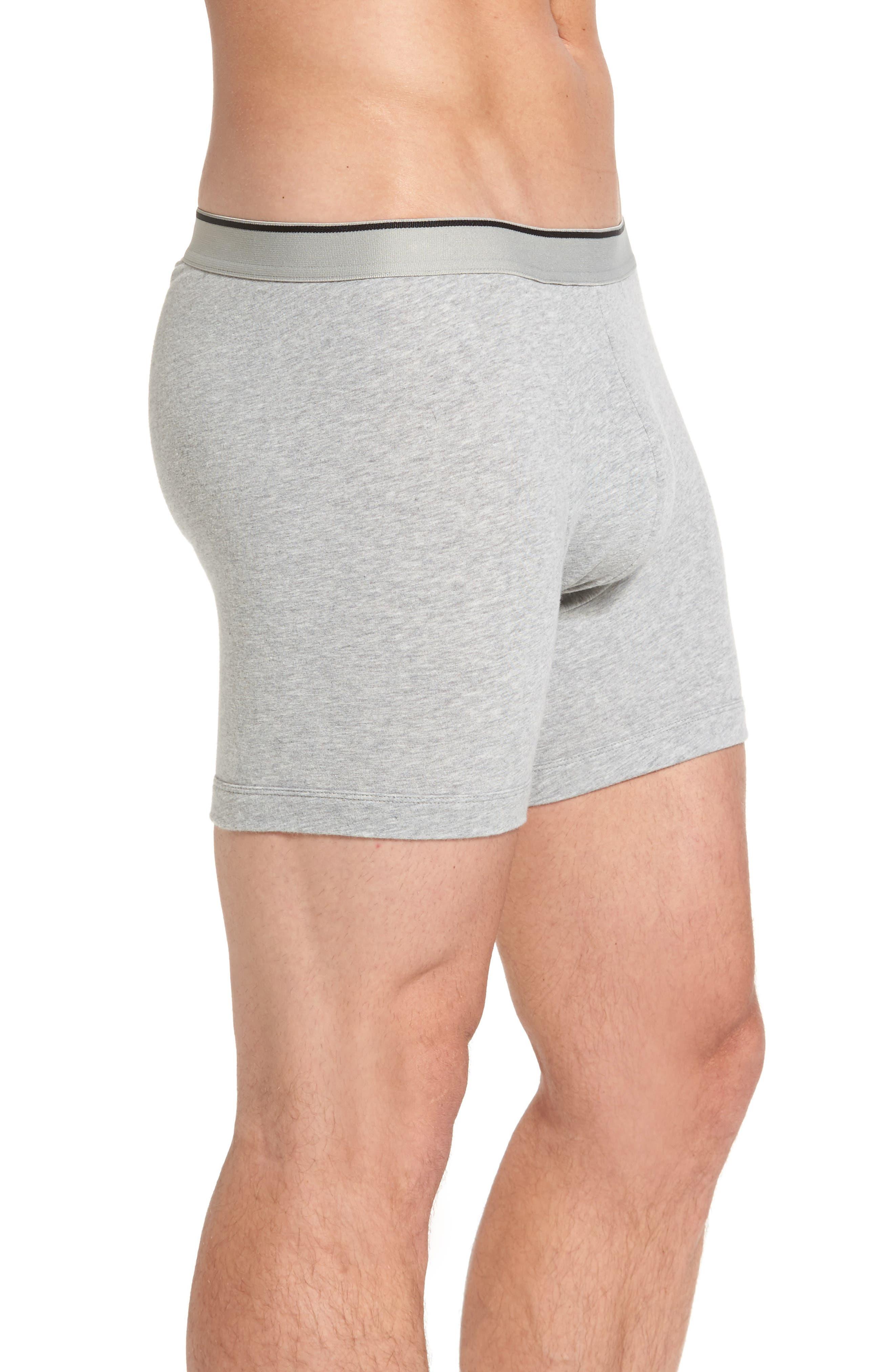 Alternate Image 4  - Nordstrom Men's Shop 3-Pack Stretch Cotton Boxer Briefs