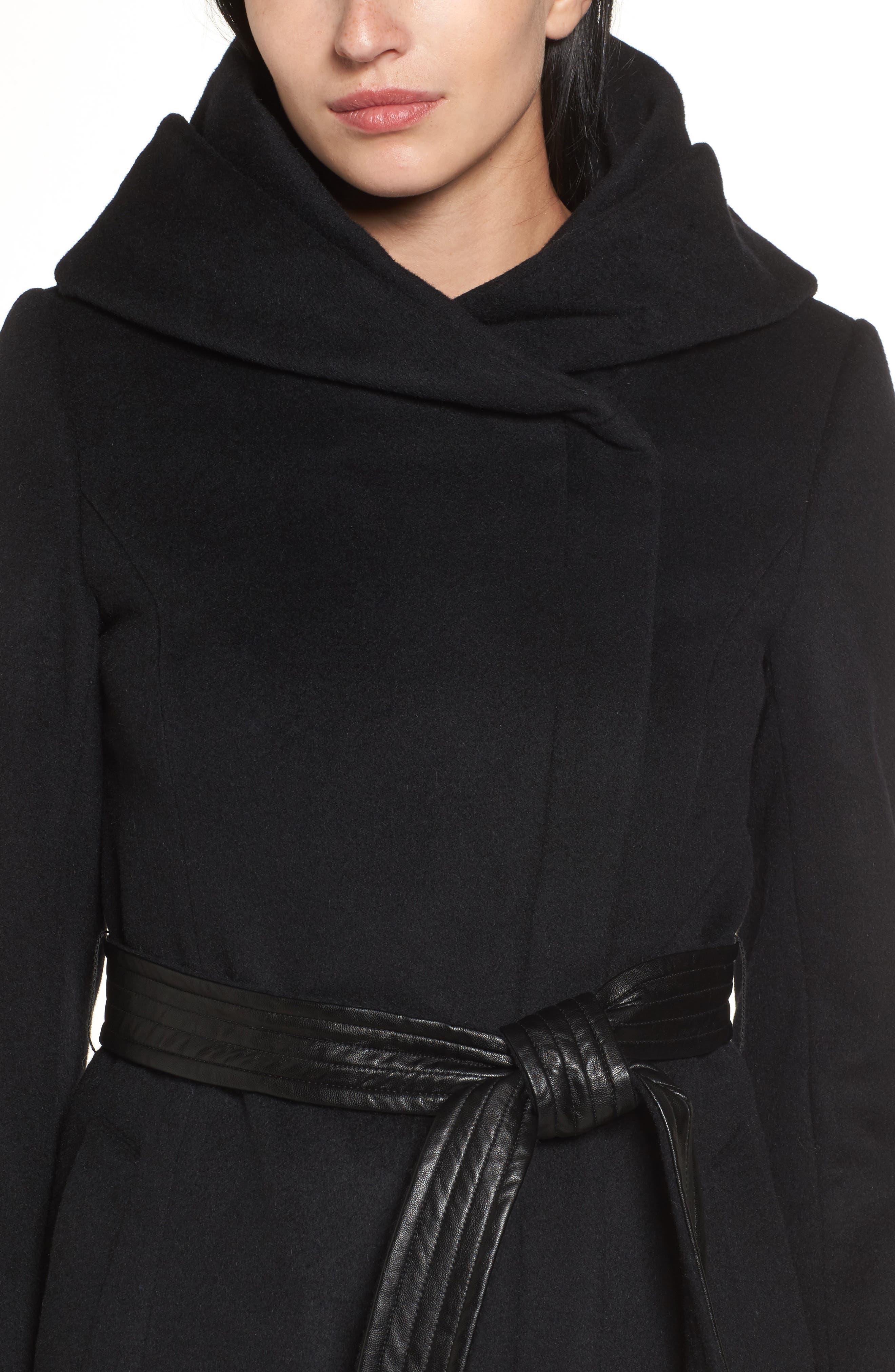 Alternate Image 4  - Cole Haan Belted Asymmetrical Wool Coat