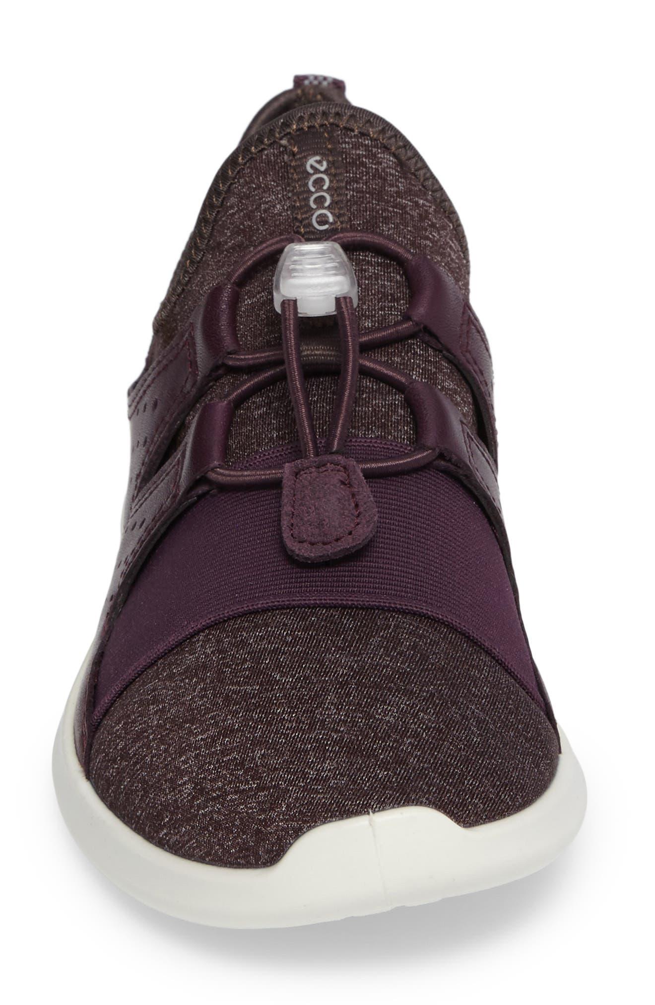 Sense Toggle Sneaker,                             Alternate thumbnail 4, color,                             Mauve Leather