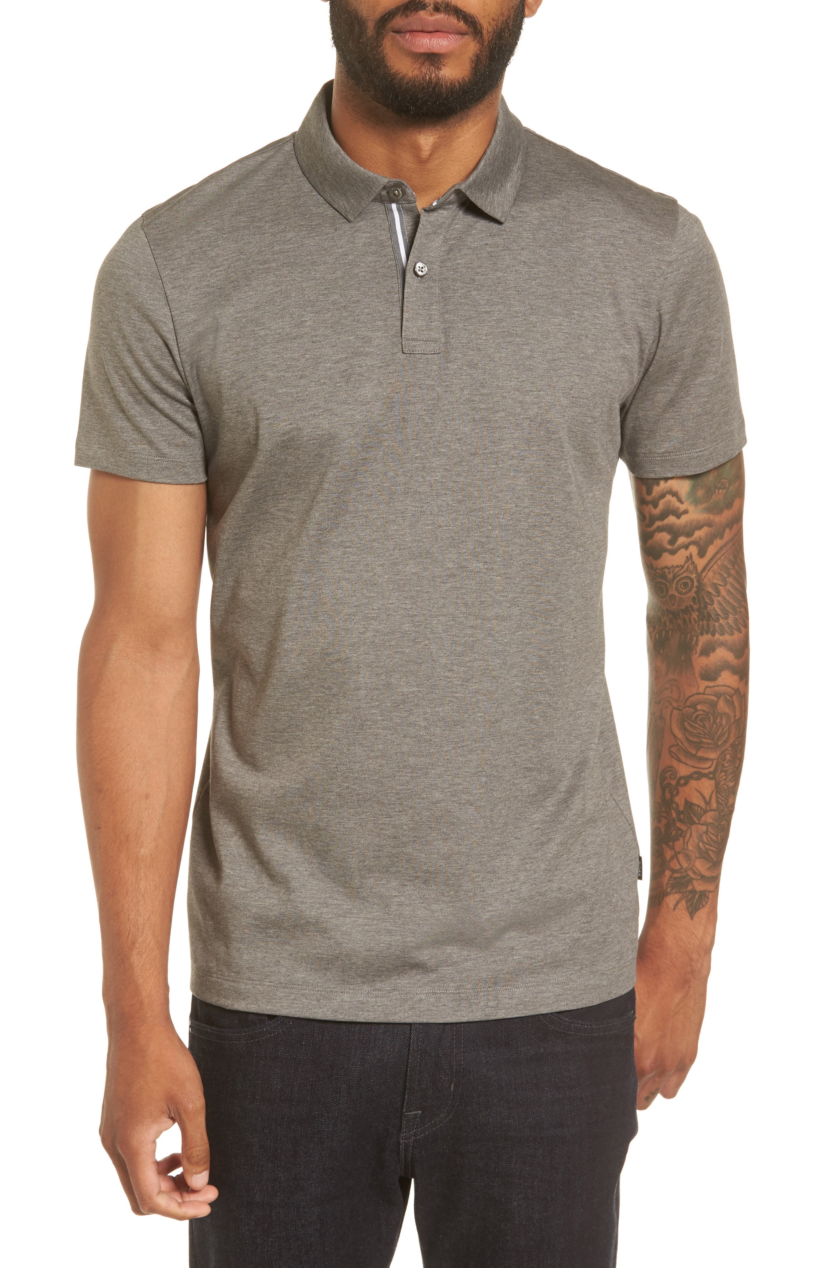 BOSS Press 21 Solid Regular Fit Polo