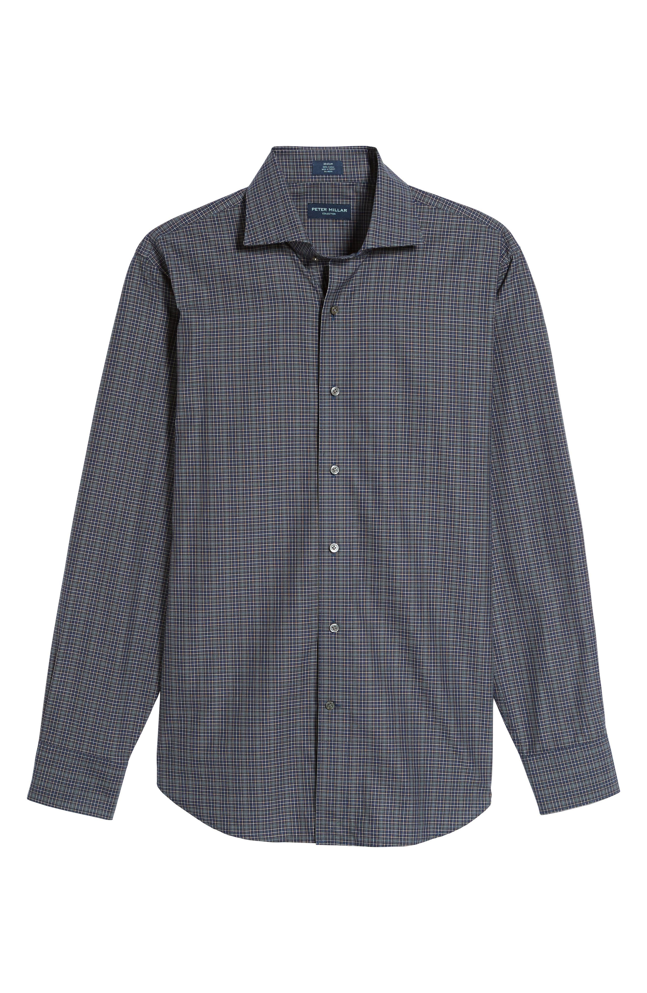 Meadows Mélange Regular Fit Check Sport Shirt,                             Alternate thumbnail 6, color,                             Blue