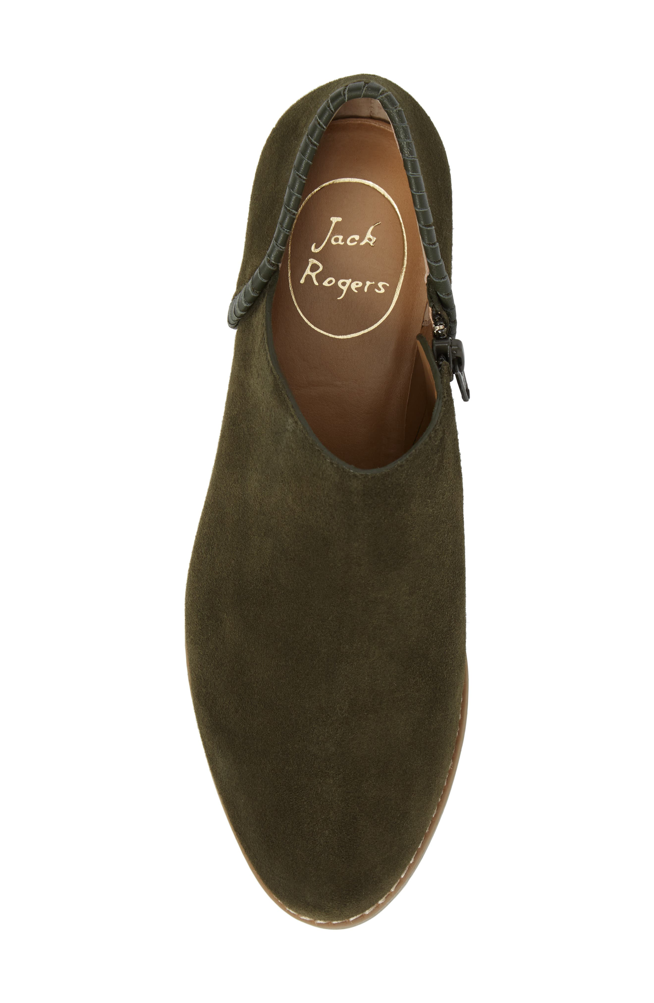 Avery Low Bootie,                             Alternate thumbnail 5, color,                             Olive Suede