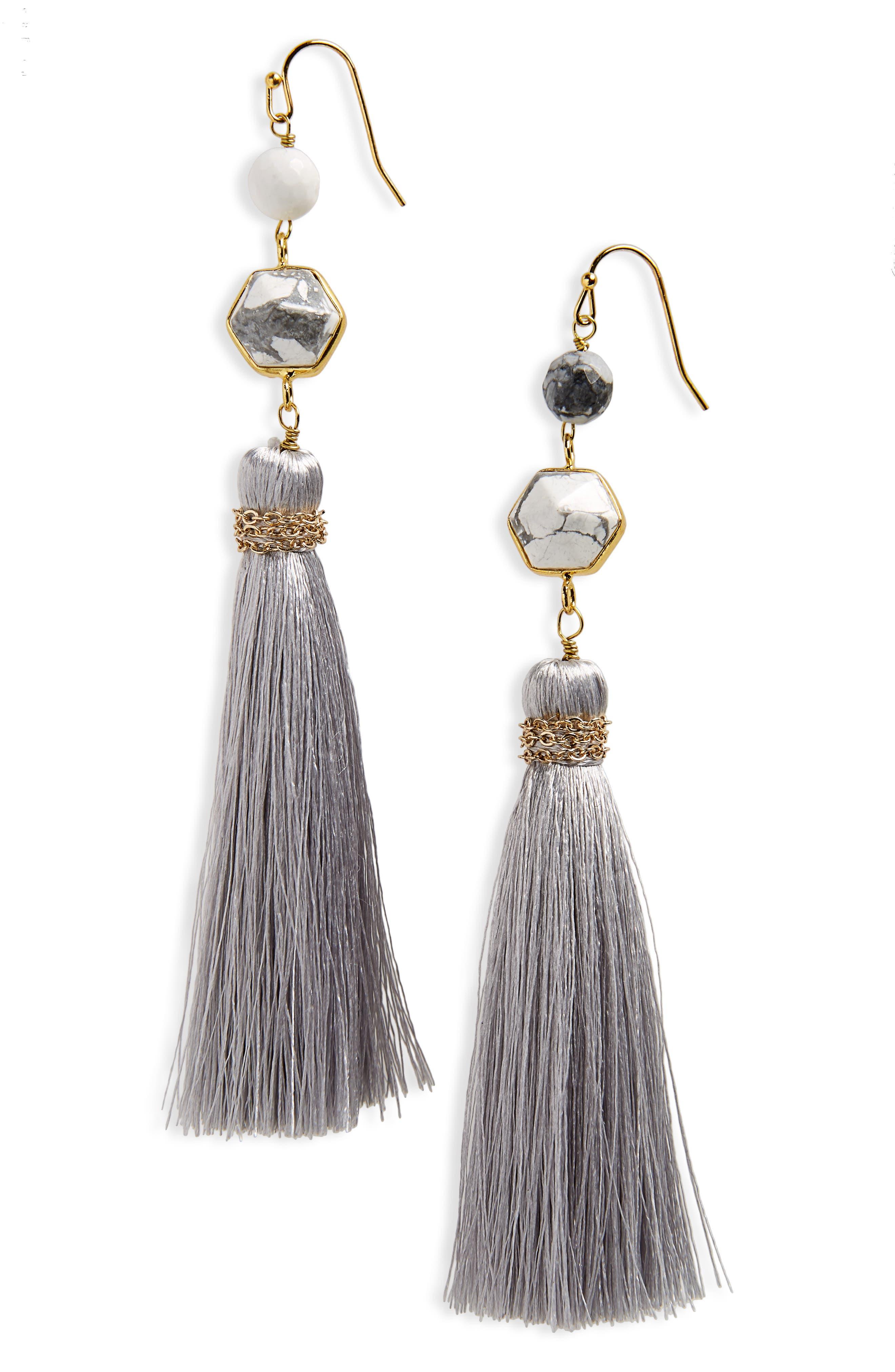 Panacea Stone Tassel Earrings