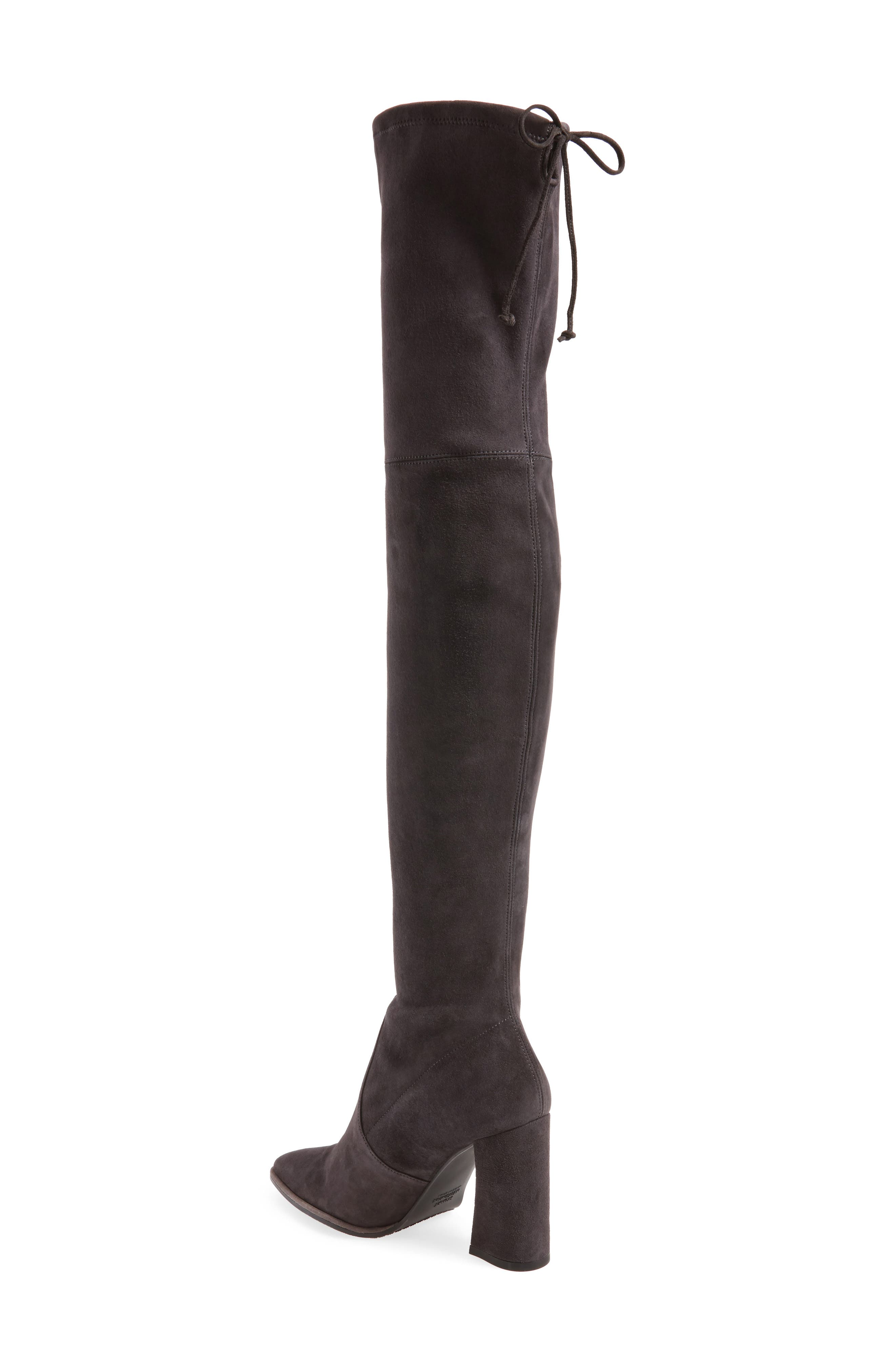 Funland Over the Knee Boot,                             Alternate thumbnail 2, color,                             Anthracite Suede