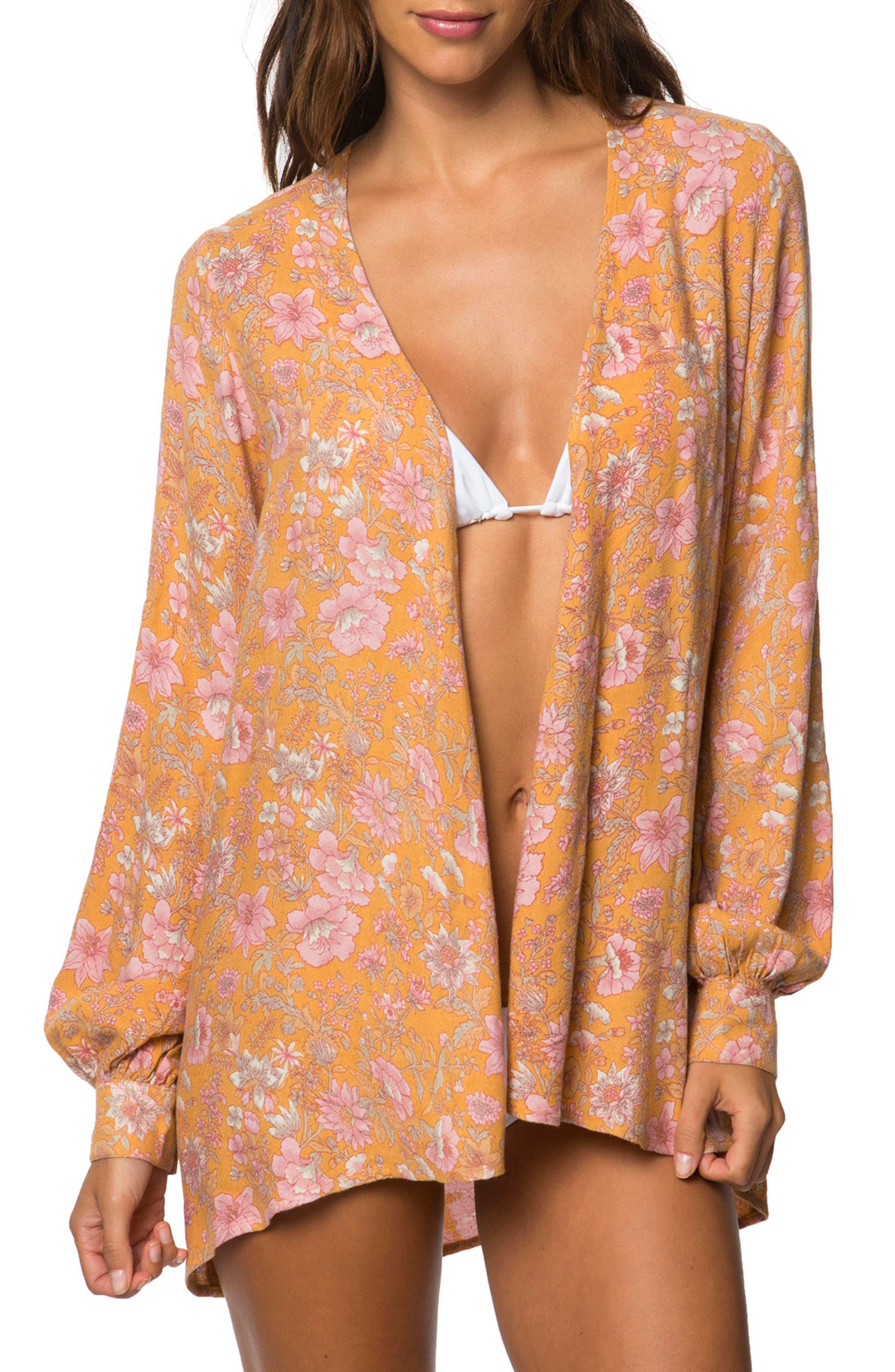 Esperanza Print Kimono,                         Main,                         color, Orange Multi