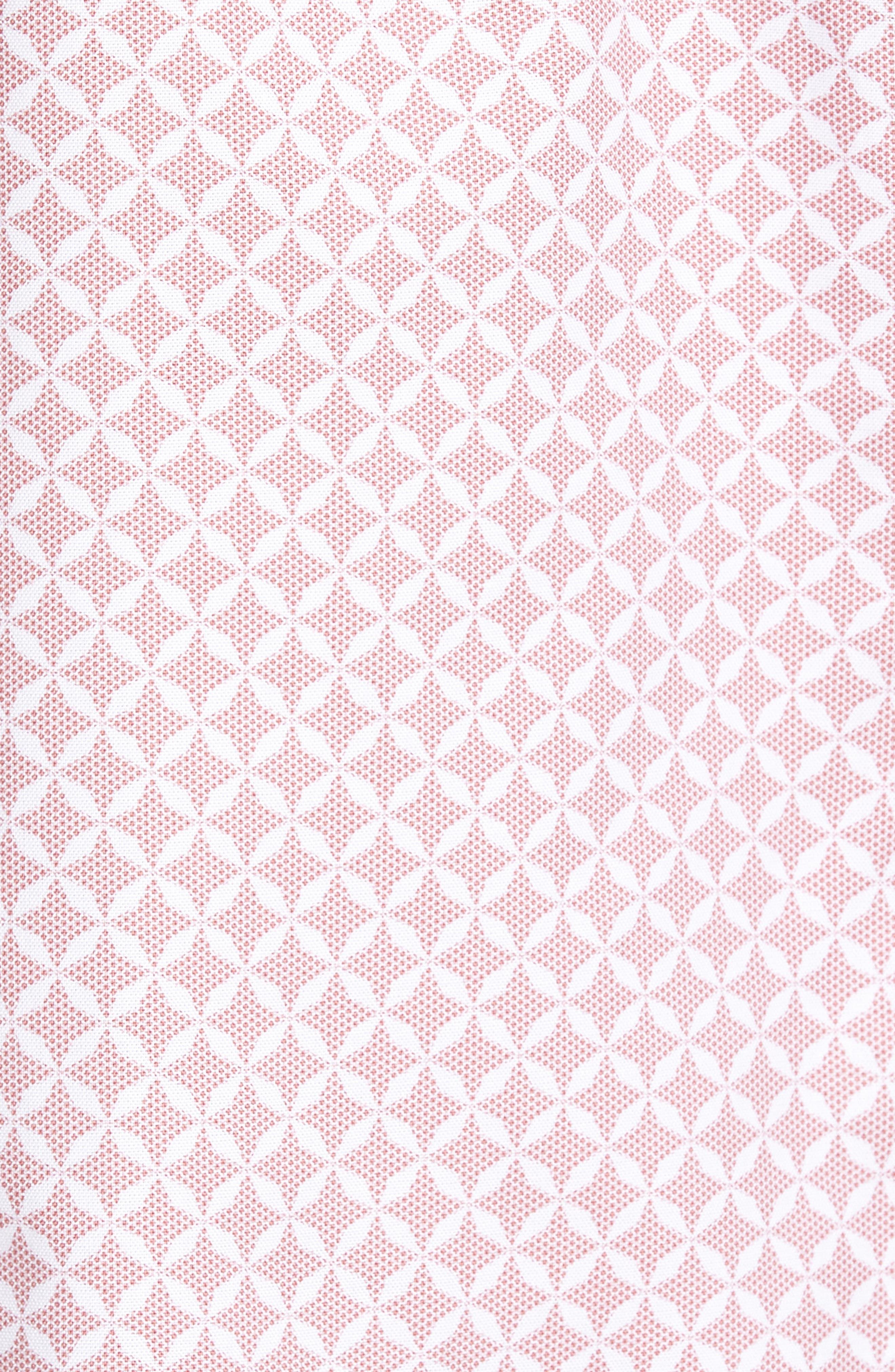 Langaz Dot Lattice Sport Shirt,                             Alternate thumbnail 6, color,                             Pink