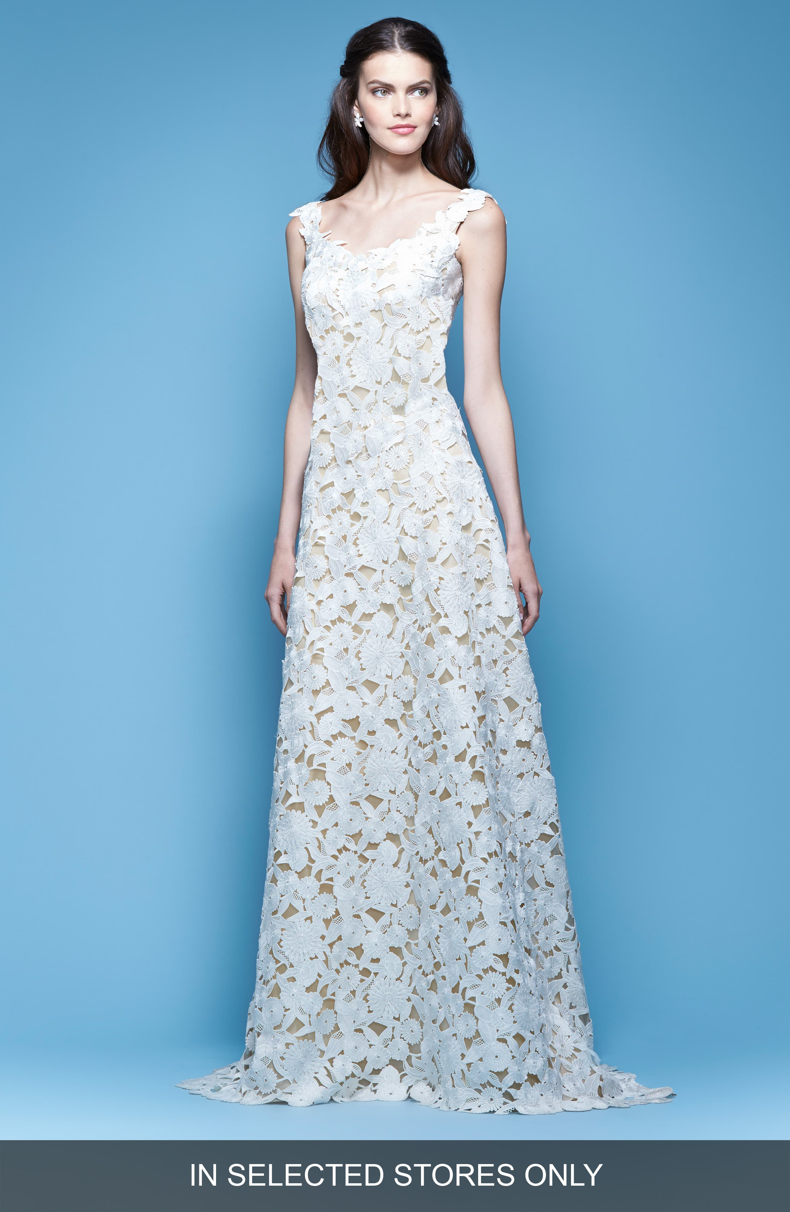 Carolina Herrera Guipure Lace A-Line Gown (In Stores Only)