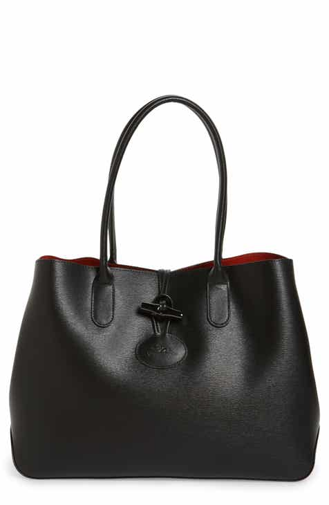 2ab543c54a87 Longchamp Roseau Leather Shoulder Tote