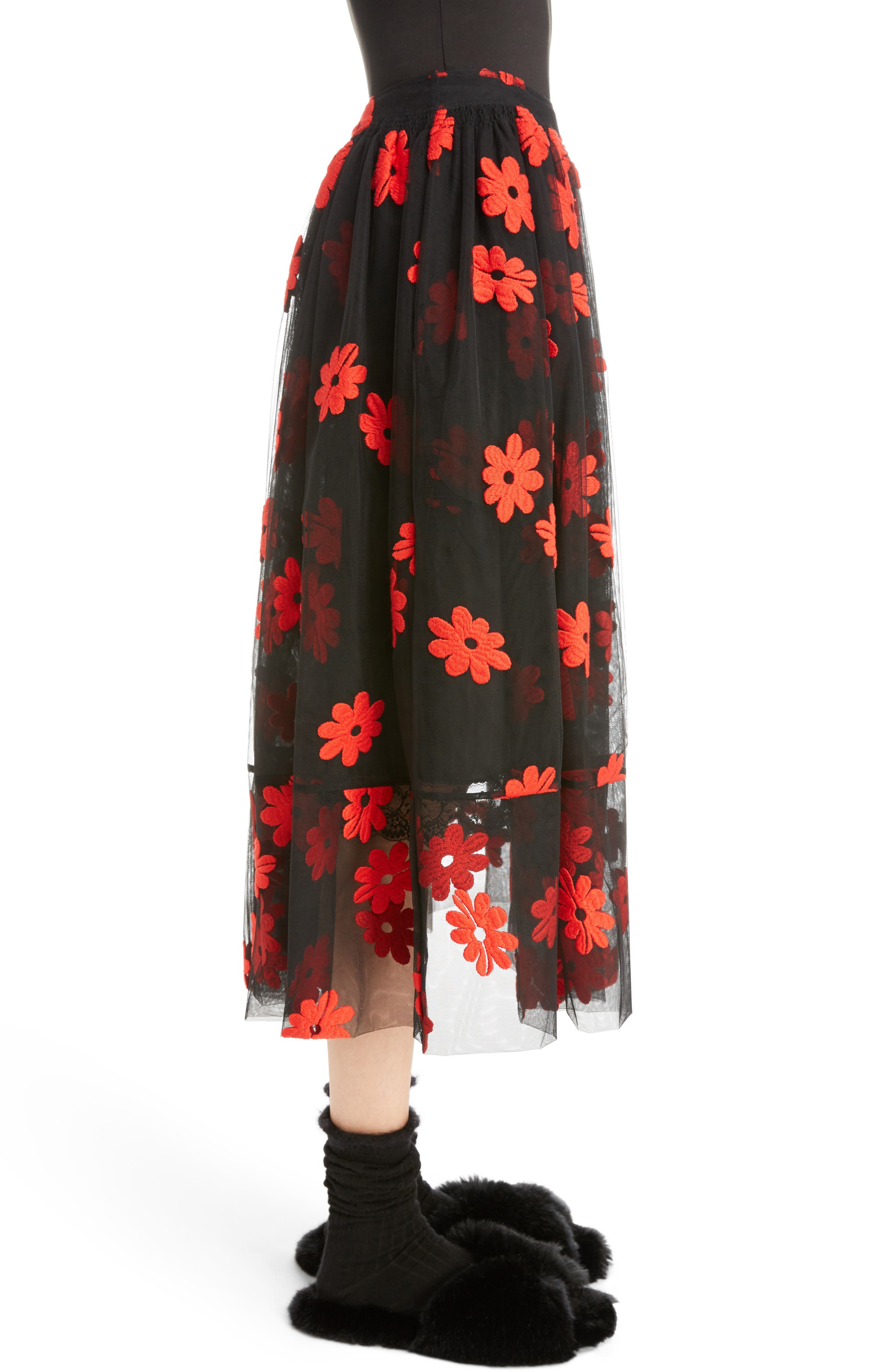 Alternate Image 3  - Simone Rocha Floral Embroidered Tulle Skirt