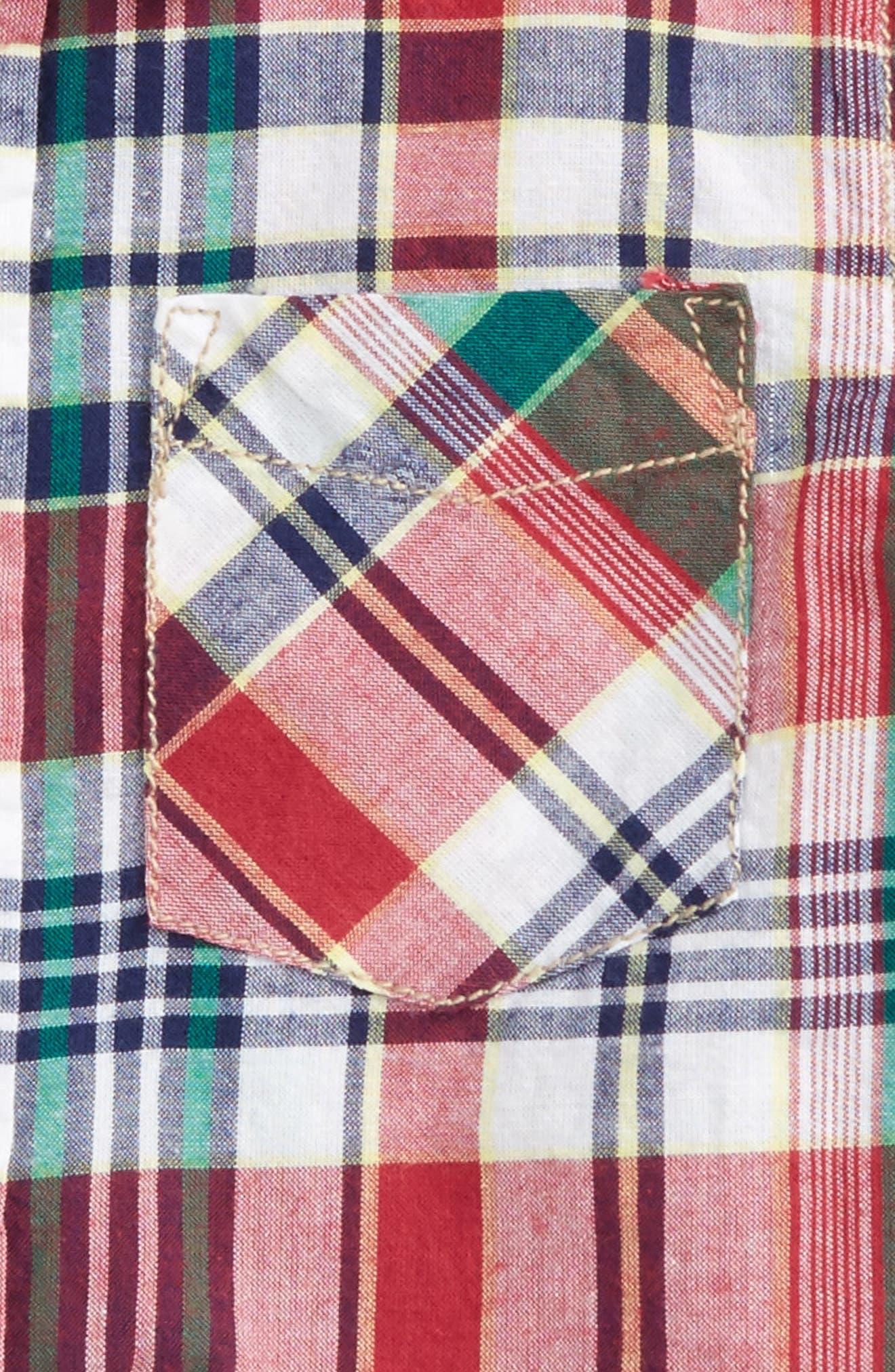Plaid Shirt,                             Alternate thumbnail 2, color,                             Red