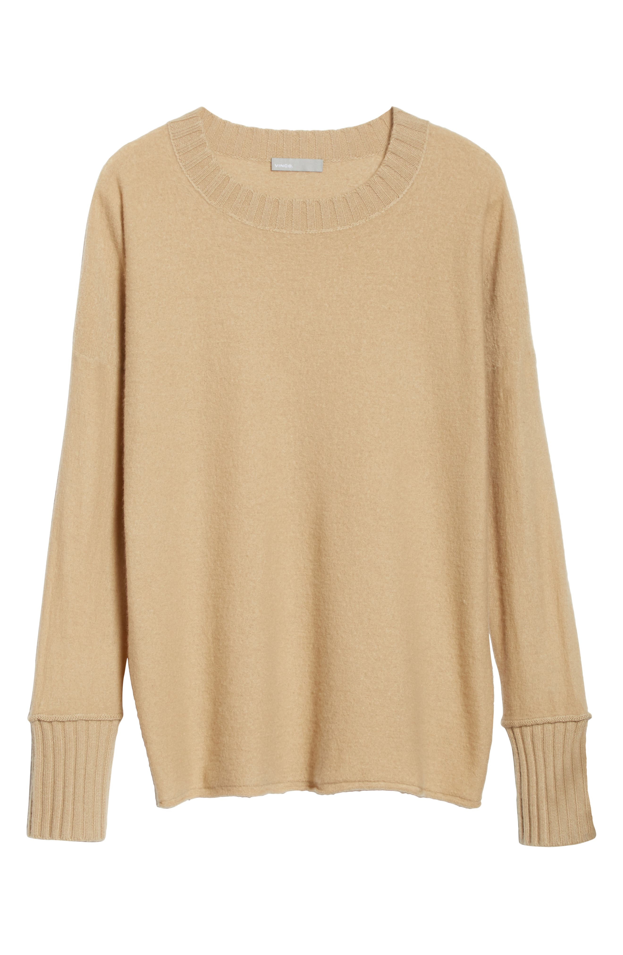 Cashmere Pullover,                             Alternate thumbnail 6, color,                             Camel