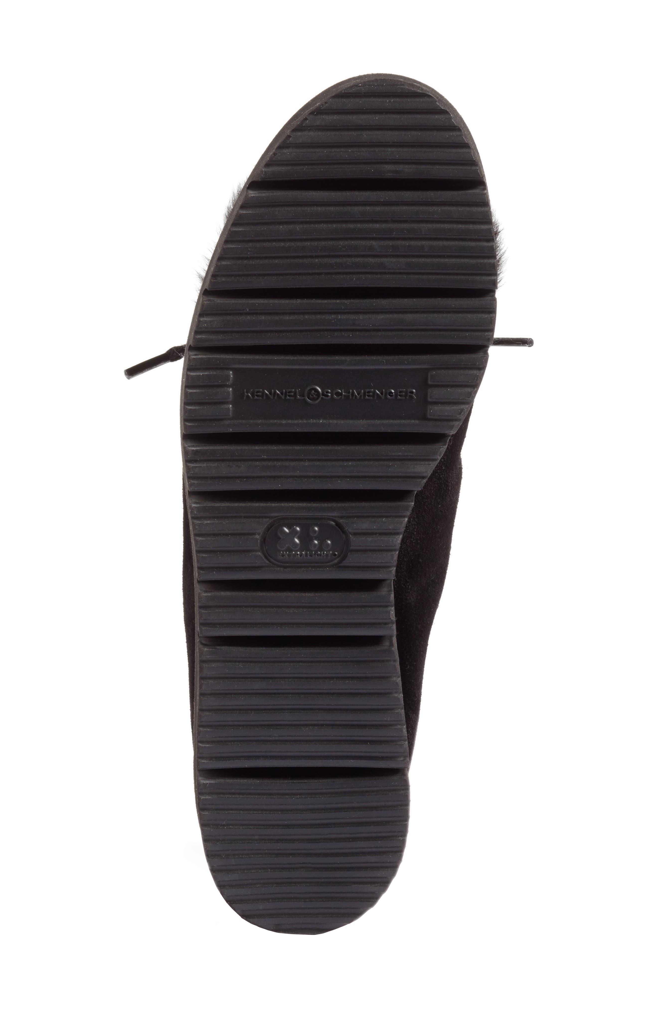 Kennel & Schmenger Malu Suede & Genuine Shearling Slip-On Sneaker,                             Alternate thumbnail 6, color,                             Black