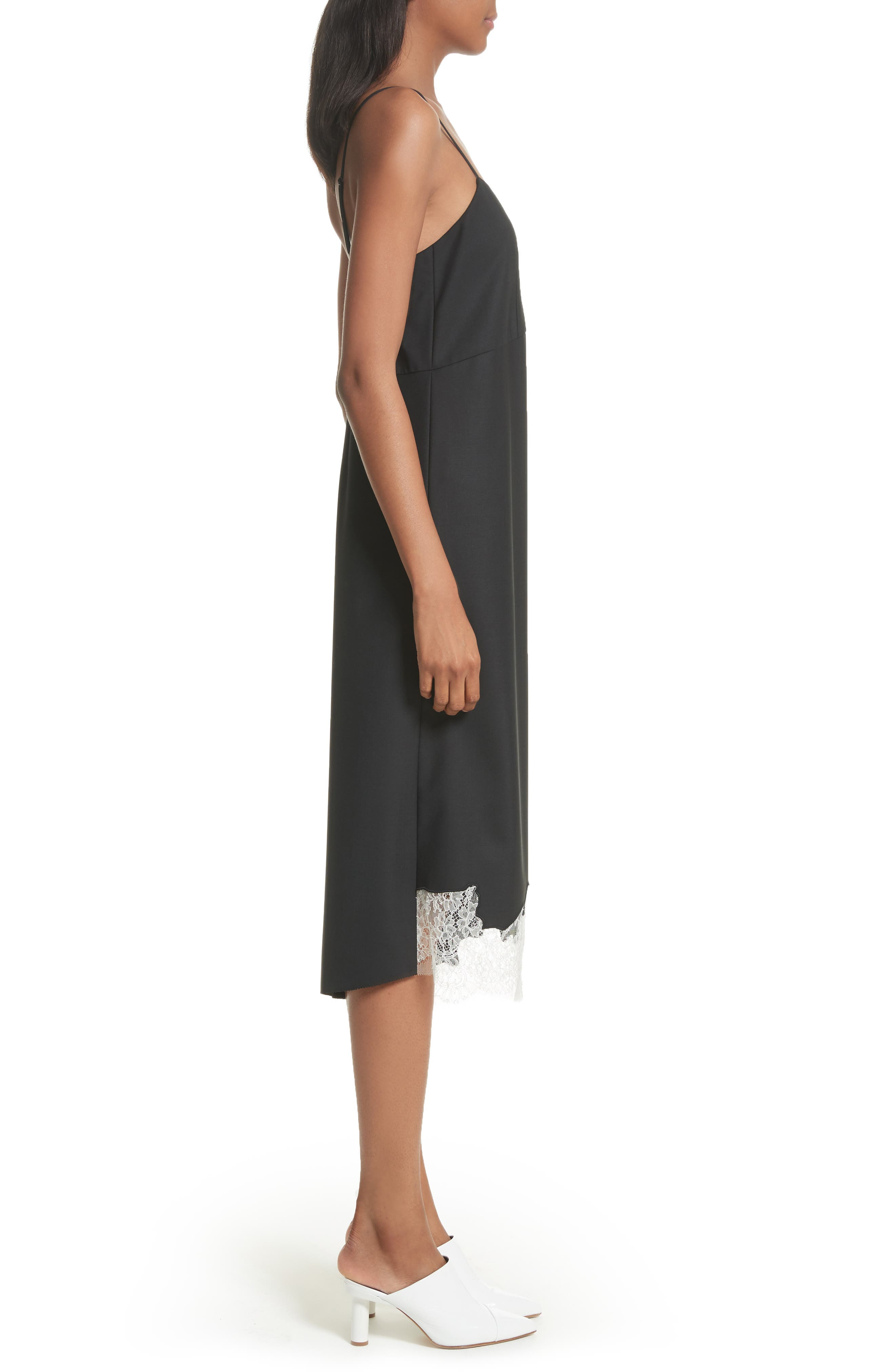 Lou Lou Appliqué Dress,                             Alternate thumbnail 3, color,                             Black