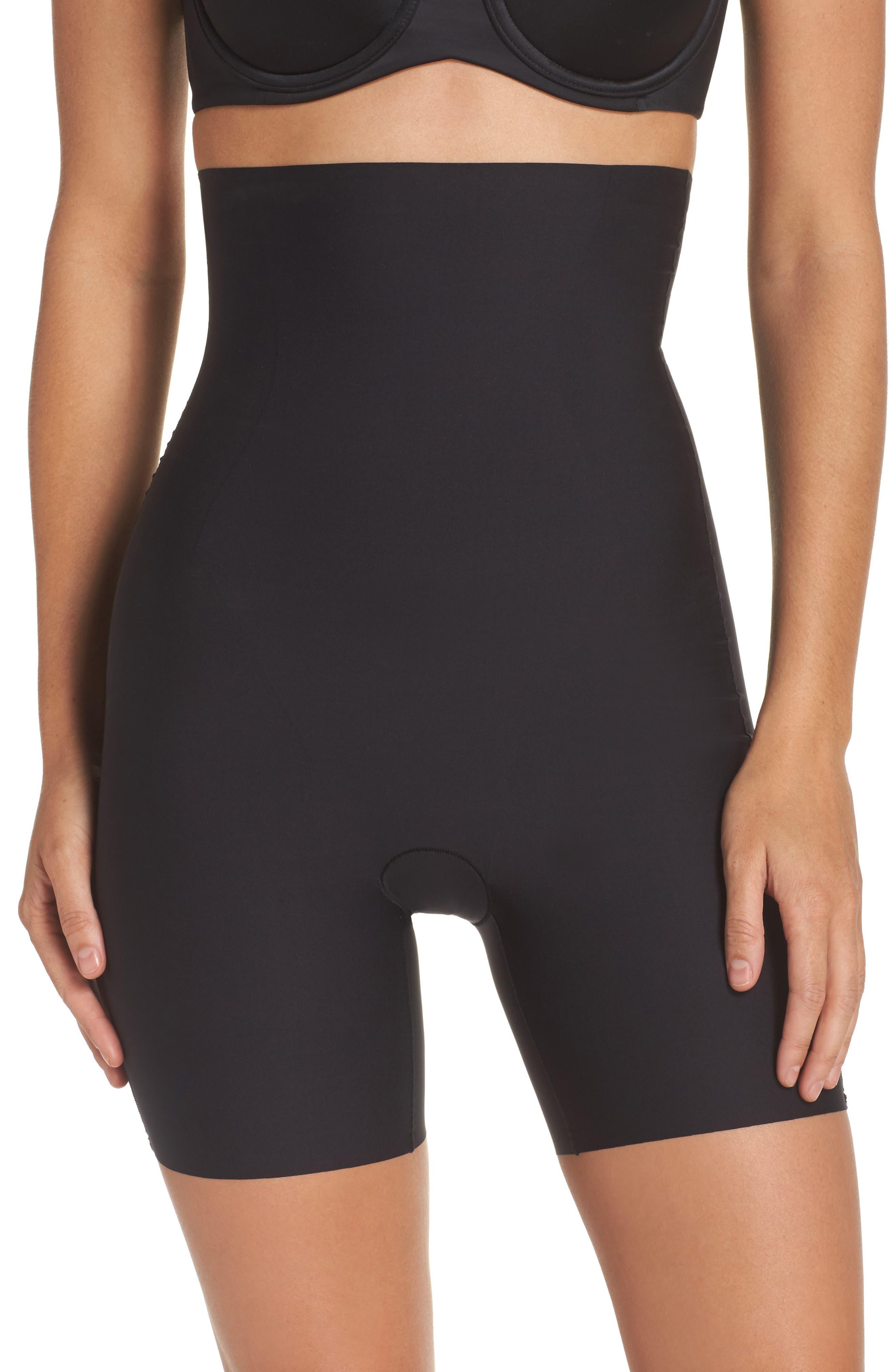 High Waist Shaping Shorts,                         Main,                         color, Black