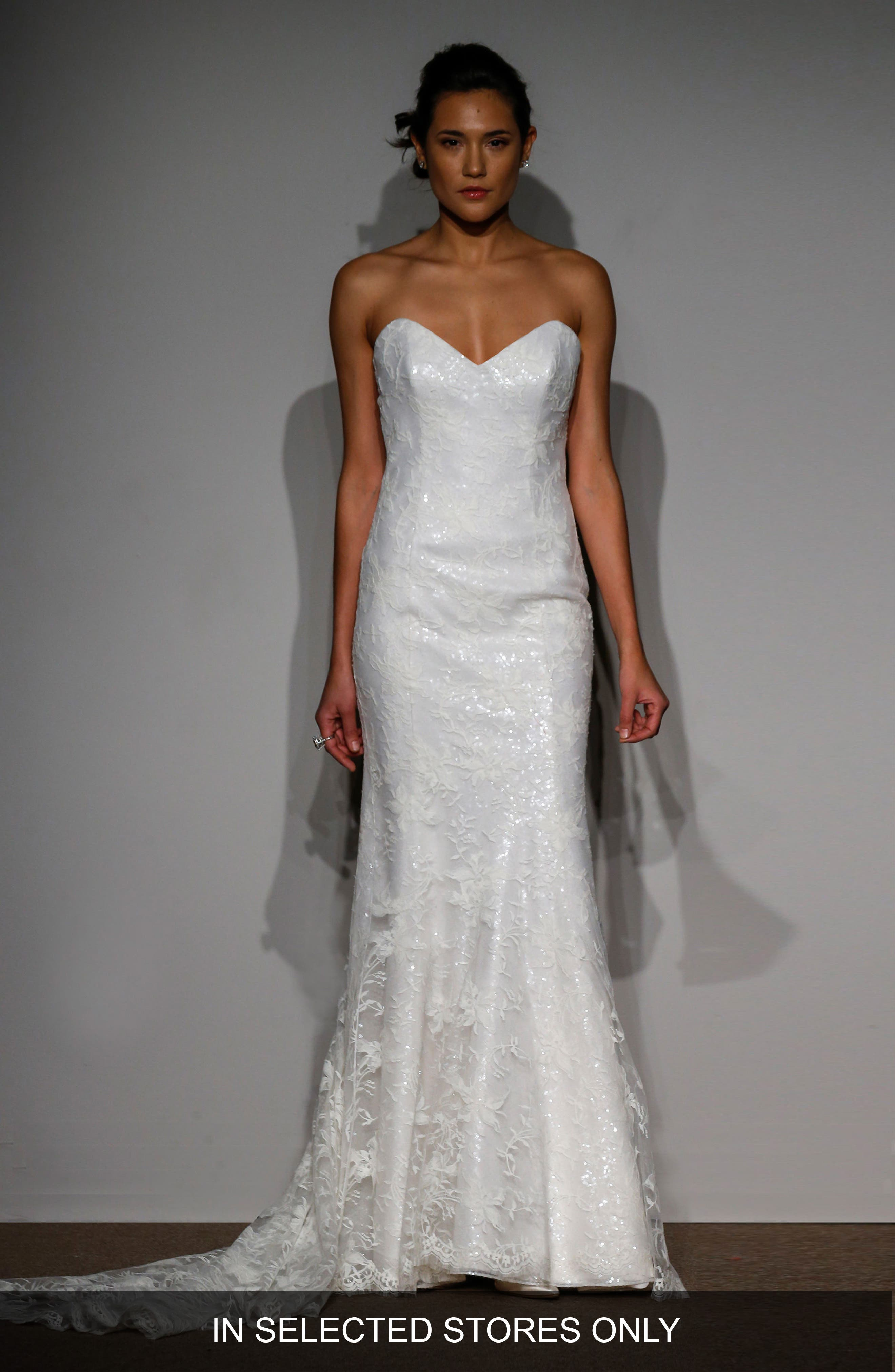 Main Image - Anna Maier Sylvie Embellished French Lace Gown